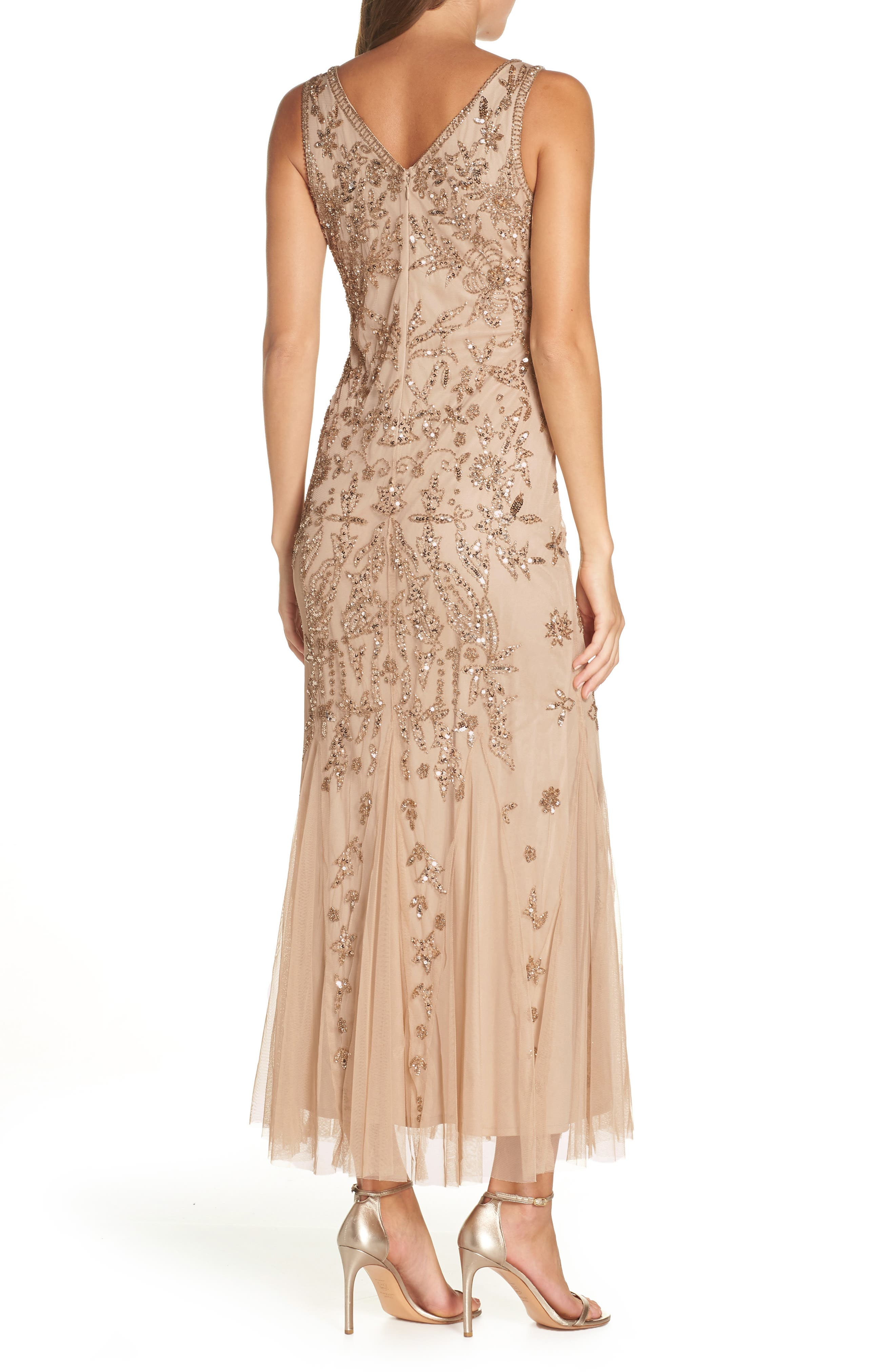Embellished Mesh Gown,                             Alternate thumbnail 2, color,                             690