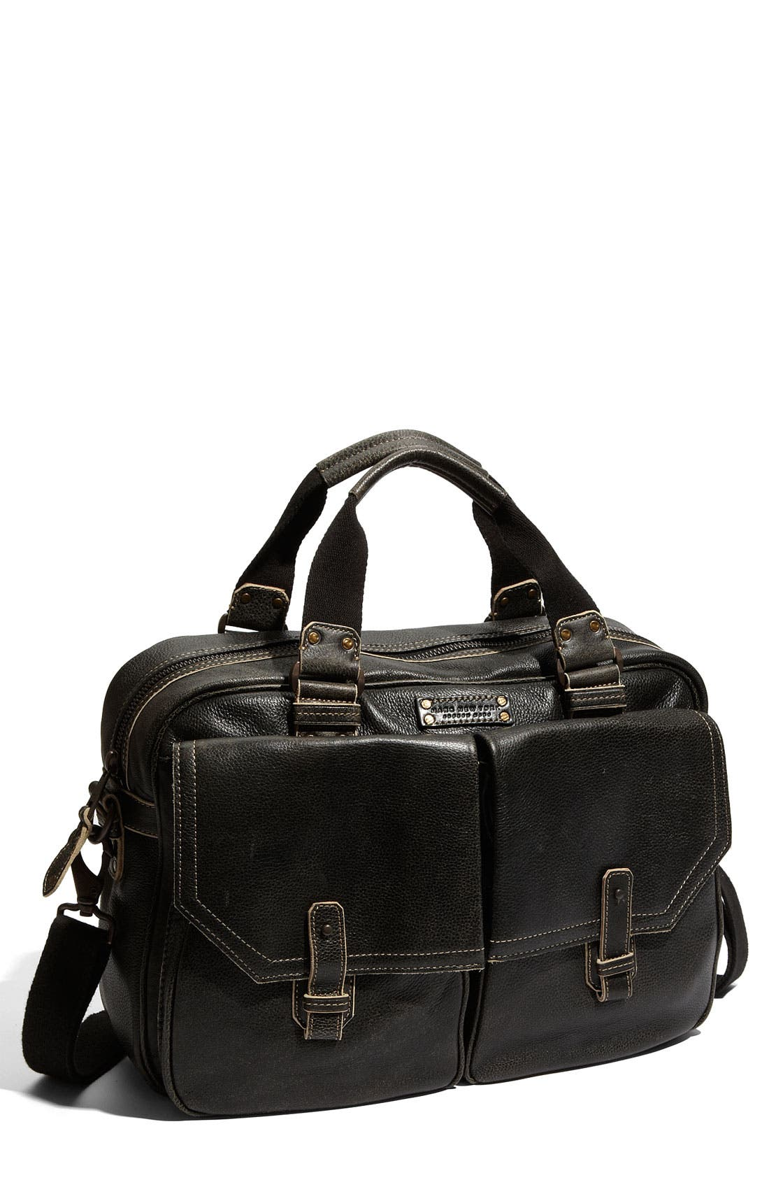 by Andrew Marc Accessories Leather Travel Bag,                             Main thumbnail 1, color,                             001