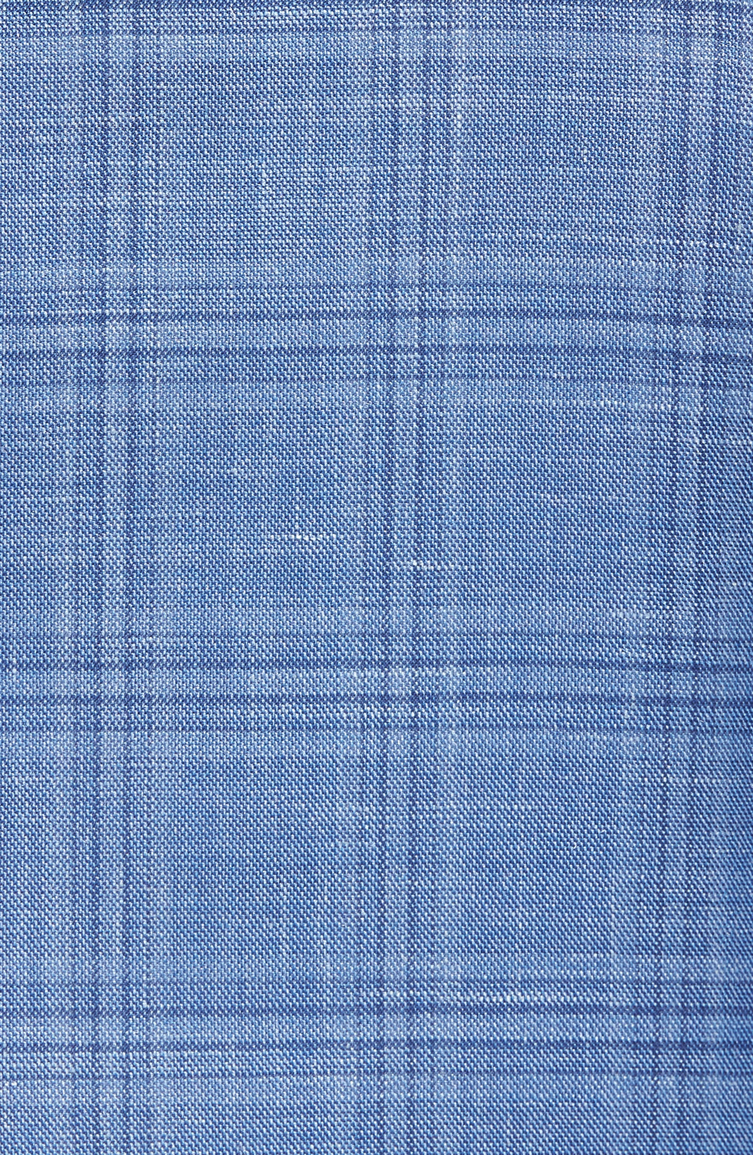 Arnold Classic Fit Plaid Wool Blend Sport Coat,                             Alternate thumbnail 6, color,                             400