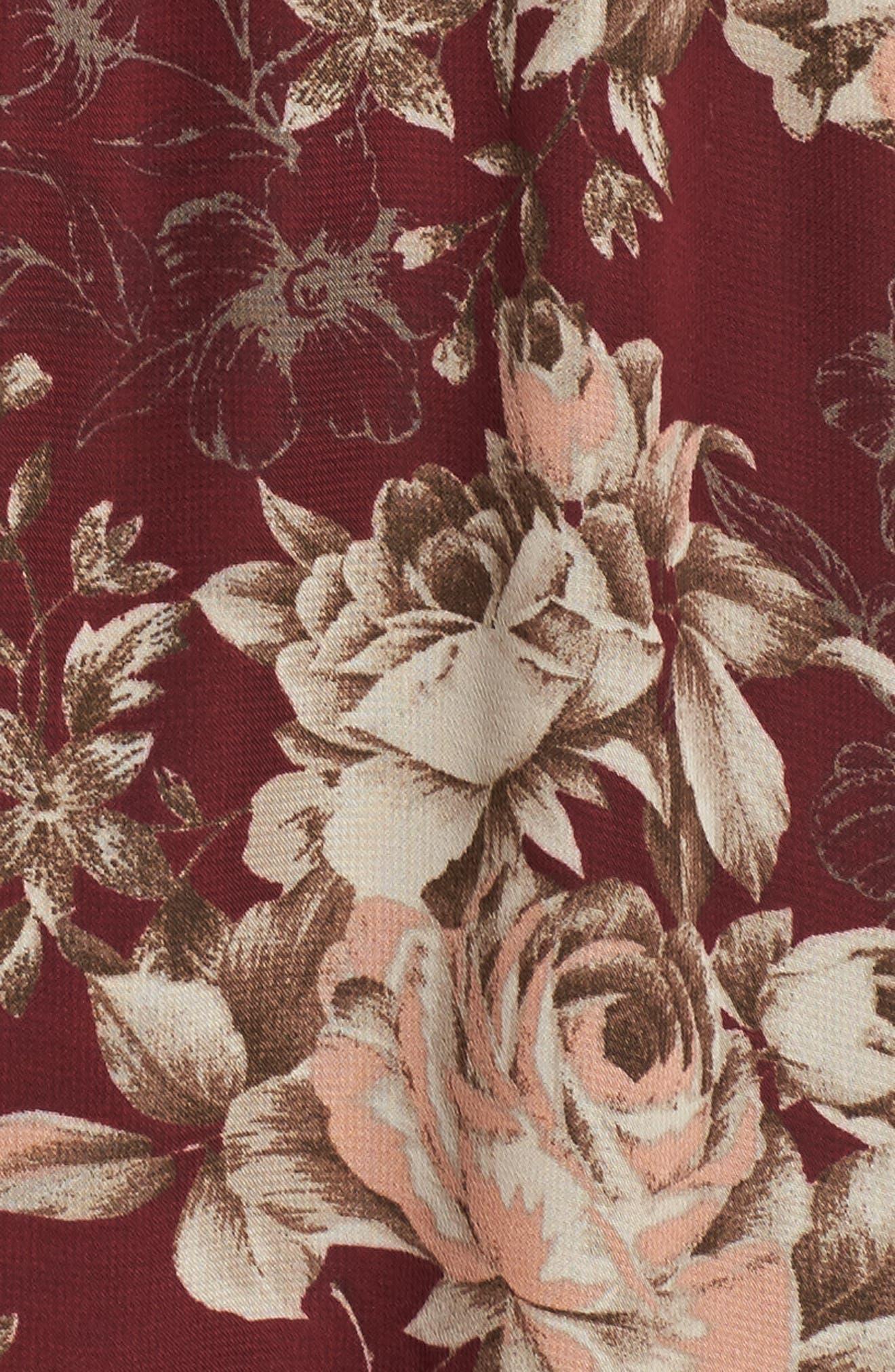 Blouson Midi Dress,                             Alternate thumbnail 5, color,