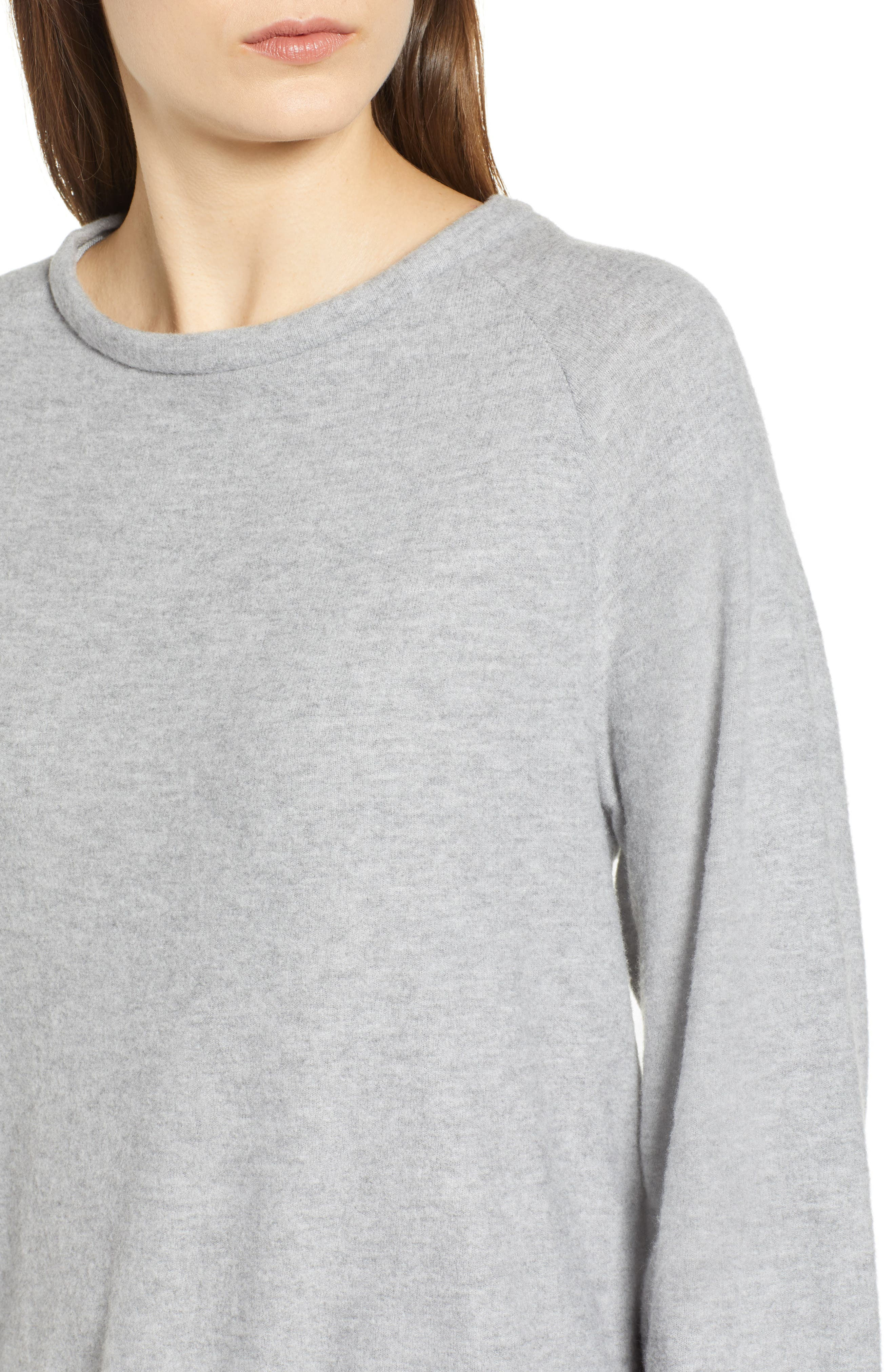 After Hours Open Back Sweatshirt,                             Alternate thumbnail 4, color,                             HEATHER GREY
