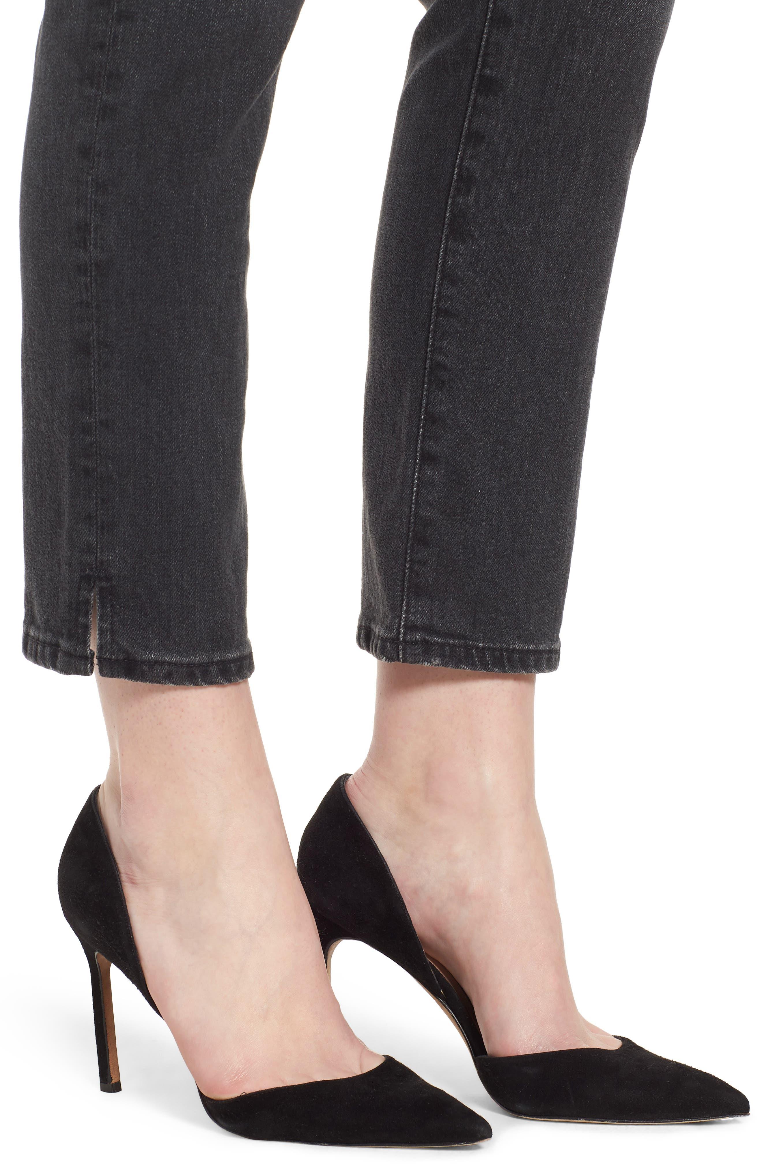 The Isabelle High Waist Ankle Straight Leg Jeans,                             Alternate thumbnail 4, color,                             019