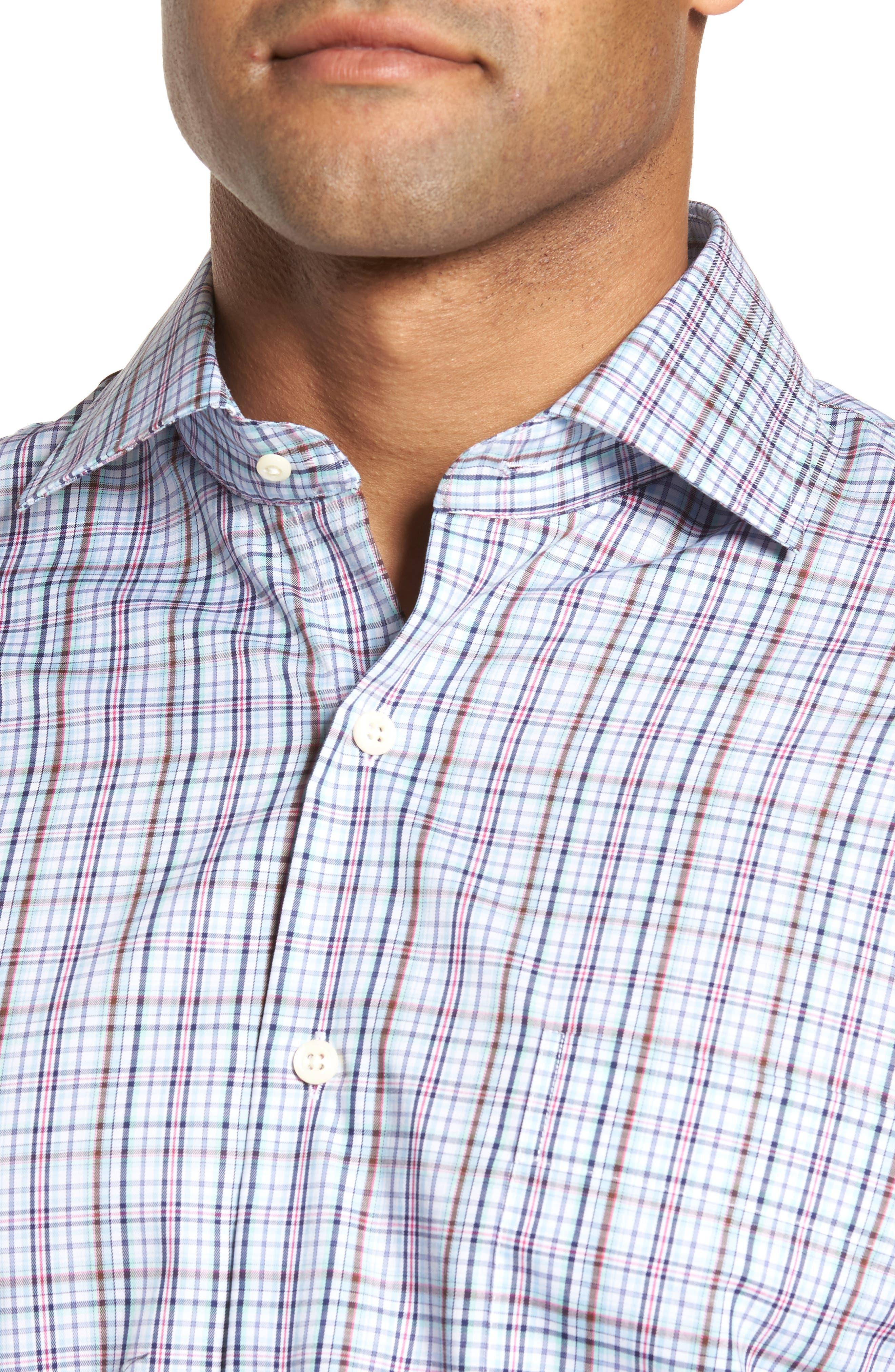 Crown Ease Tango Pinwheel Regular Fit Sport Shirt,                             Alternate thumbnail 4, color,                             453