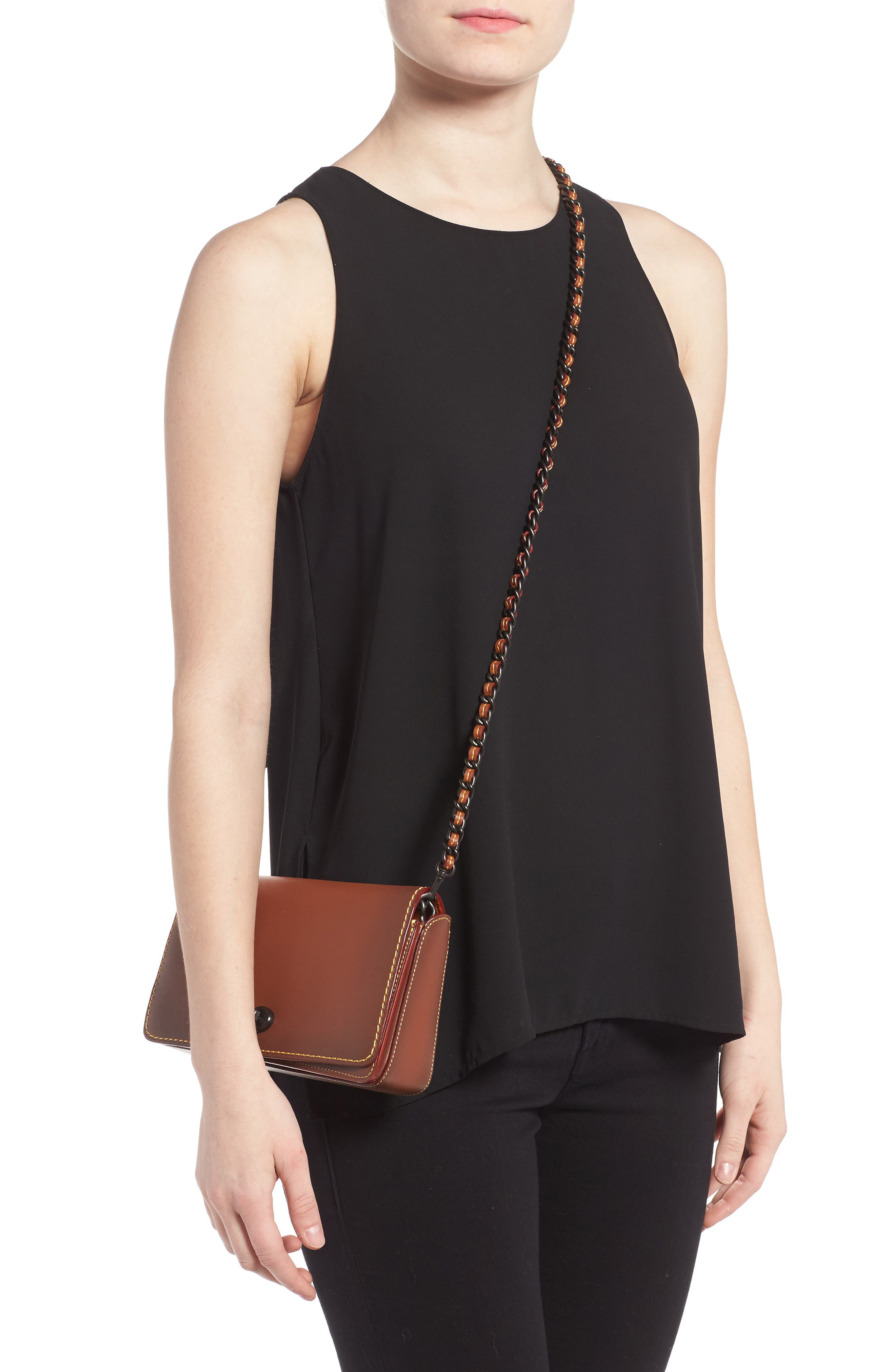 'Dinky' Leather Crossbody Bag,                             Alternate thumbnail 5, color,