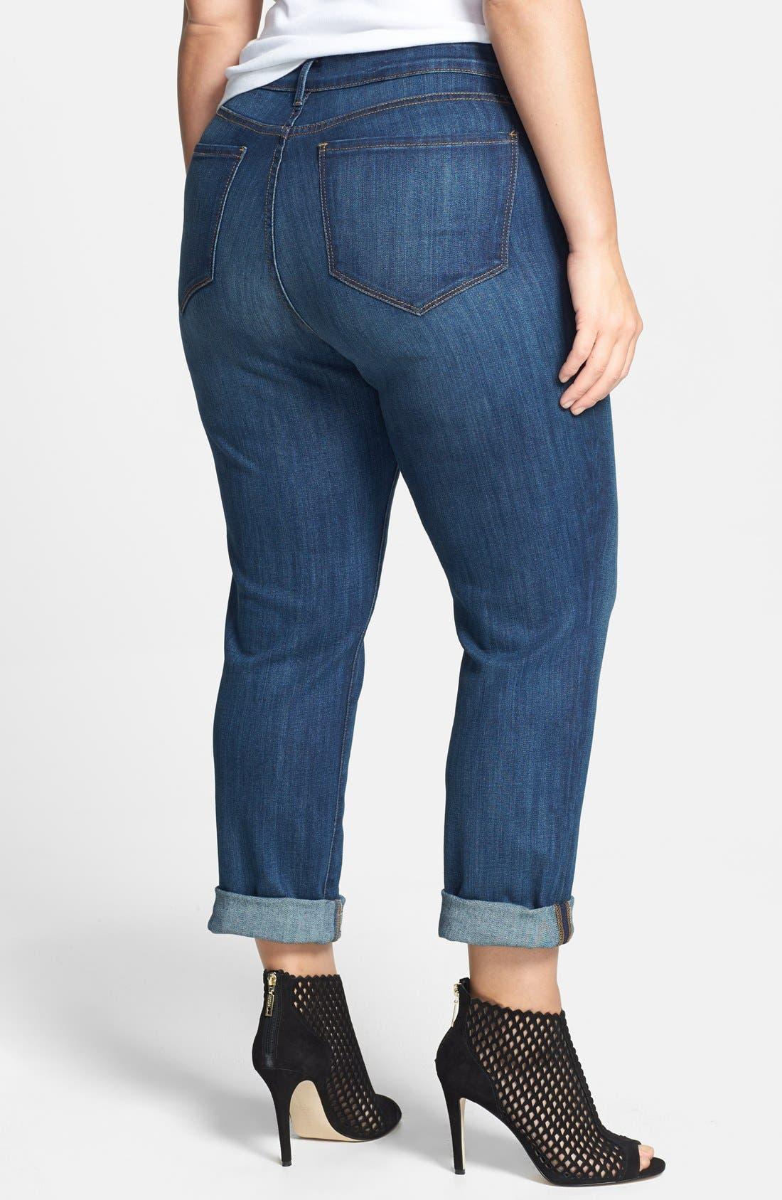 NYDJ,                             'Tanya' Cuff Slim Boyfriend Jeans,                             Alternate thumbnail 5, color,                             427