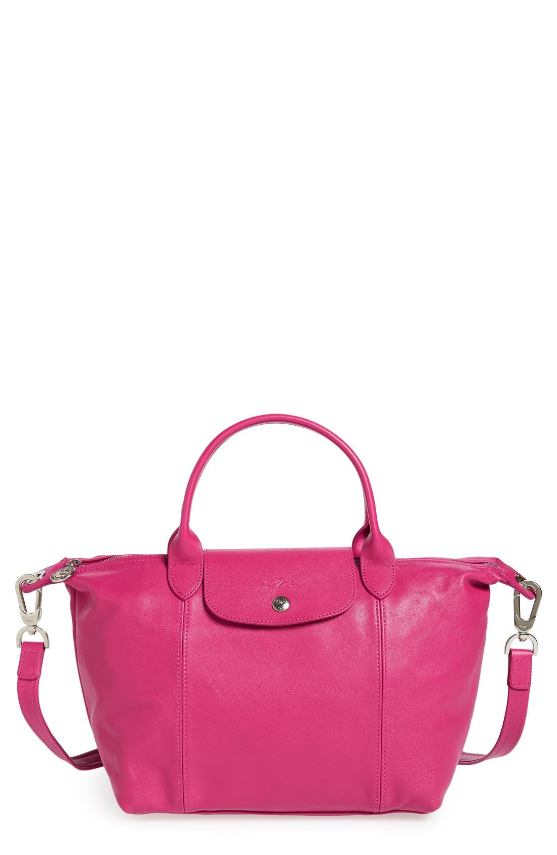 Small 'Le Pliage Cuir' Leather Top Handle Tote,                             Main thumbnail 22, color,