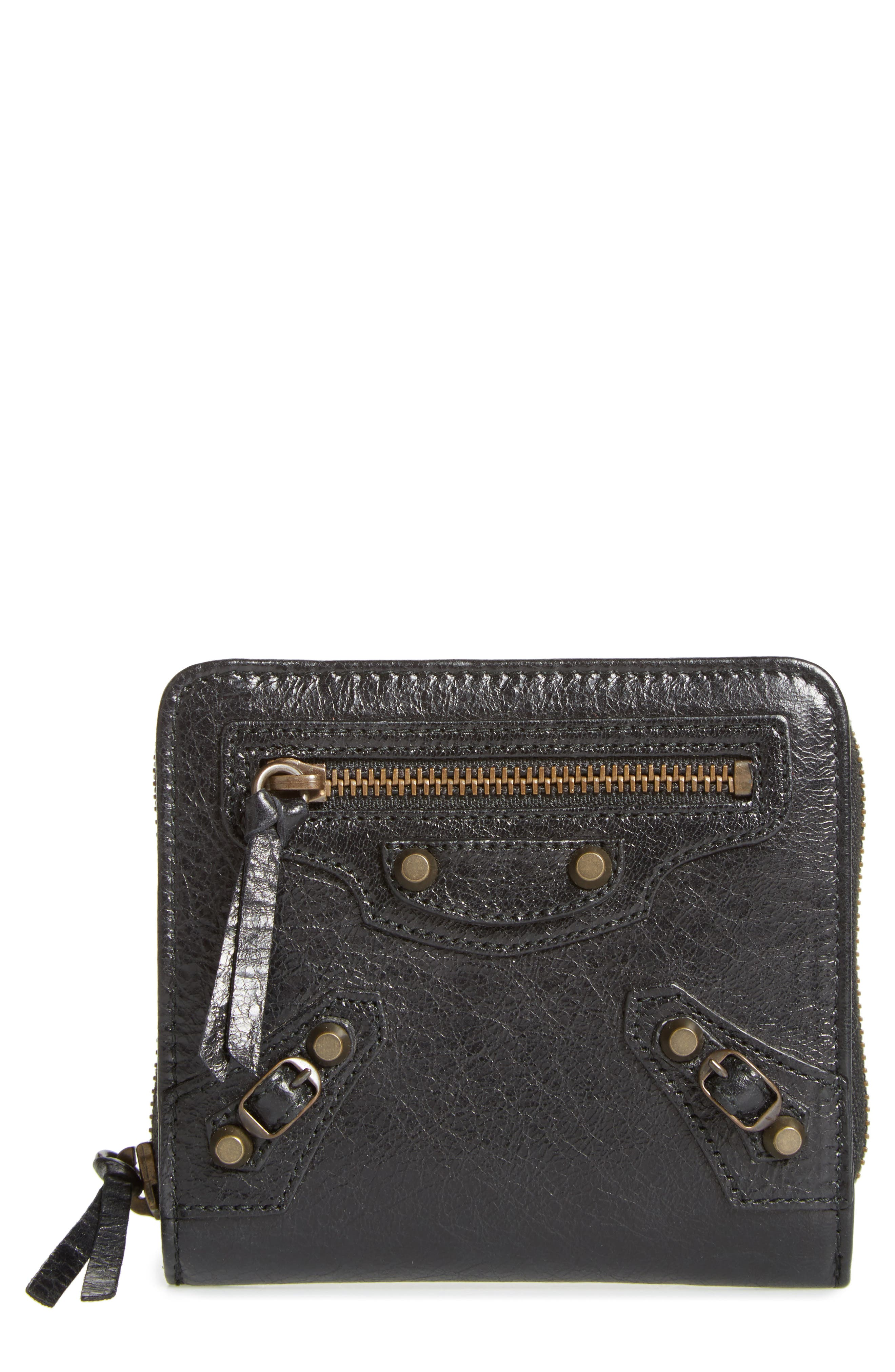 Classic Leather Bifold Wallet, Main, color, 001