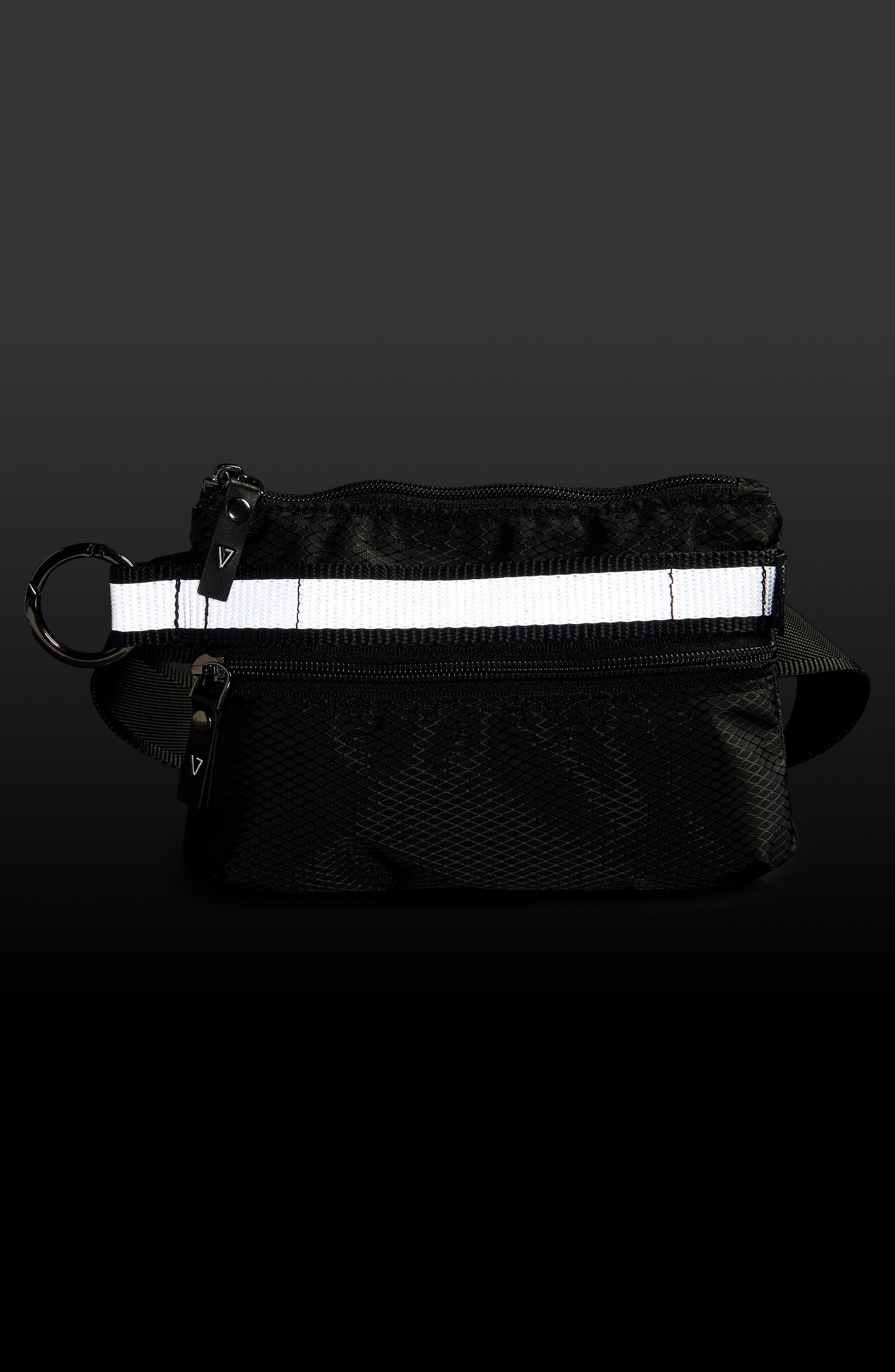 Urban Clutch Convertible Belt Bag,                             Alternate thumbnail 9, color,                             BLACK/ REFLECTIVE STRIPE