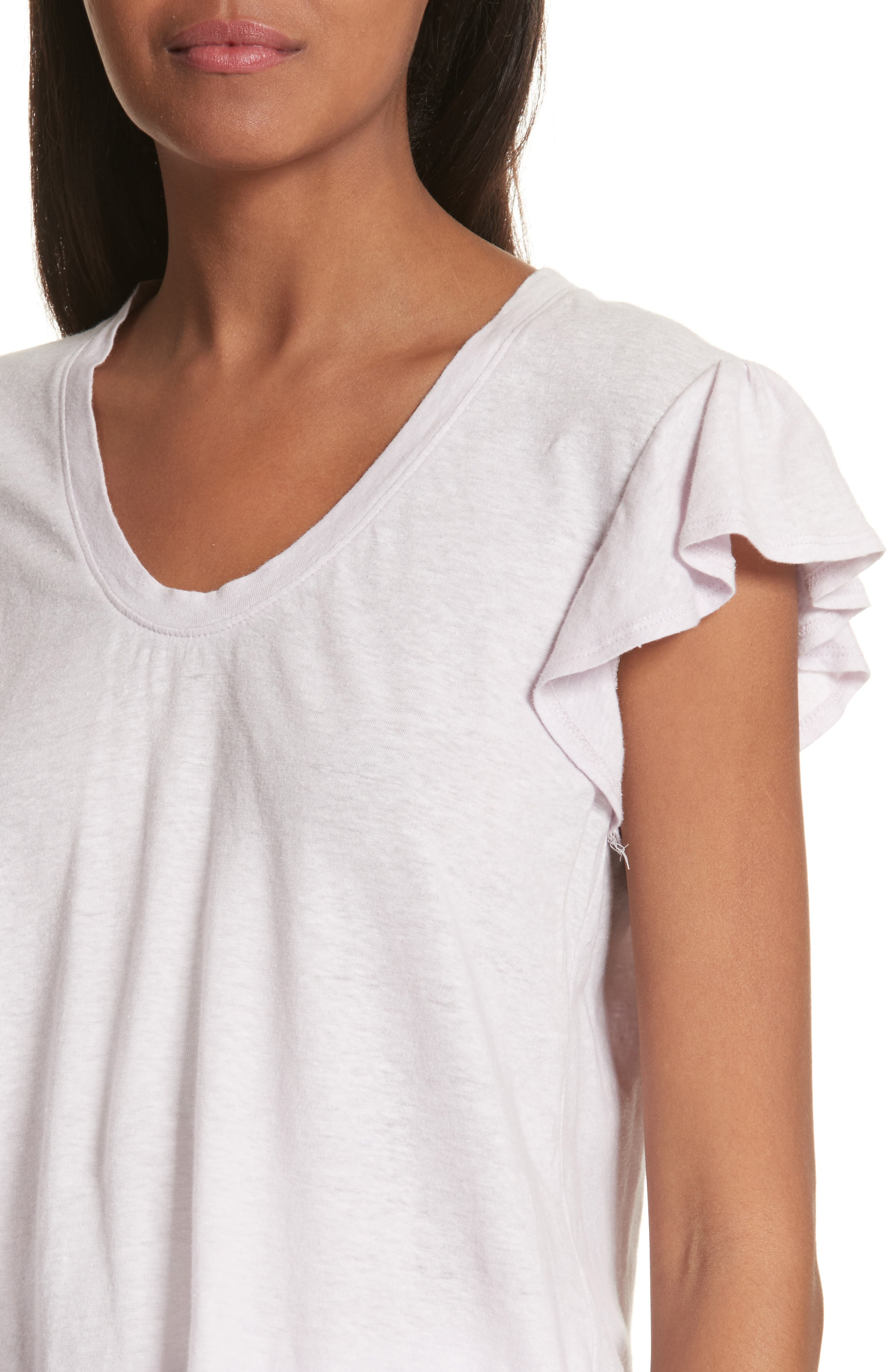 Flutter Sleeve Tee,                             Alternate thumbnail 4, color,                             661