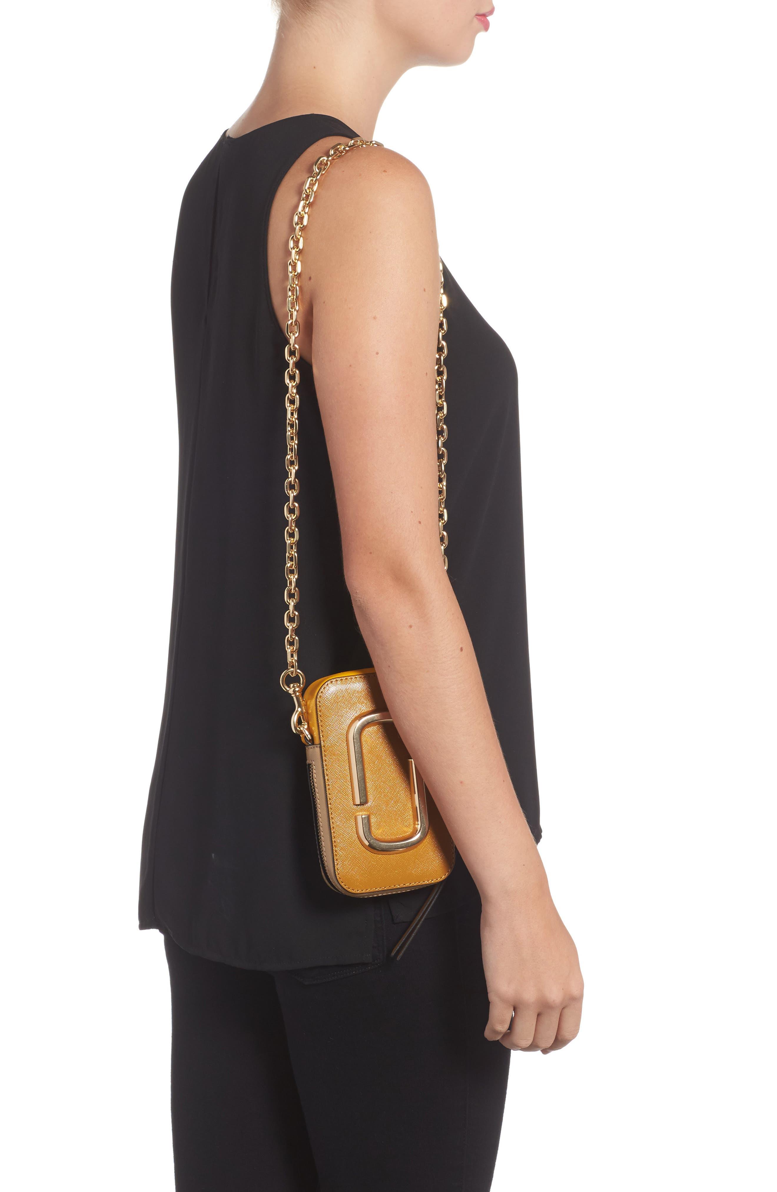 Hot Shot Saffiano Leather Shoulder Bag,                             Alternate thumbnail 7, color,