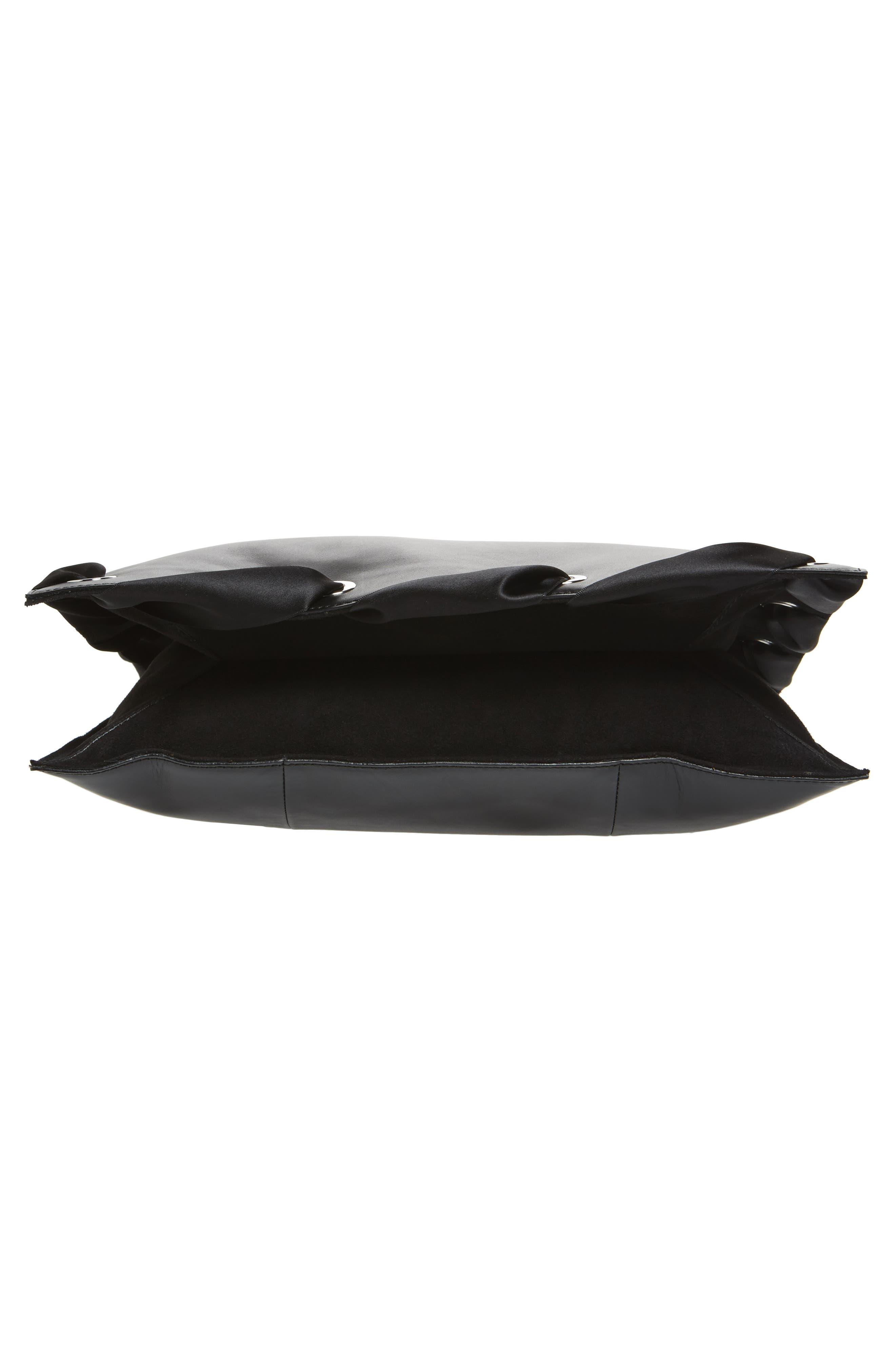 Premium Leather Grace Tote Bag,                             Alternate thumbnail 6, color,                             001