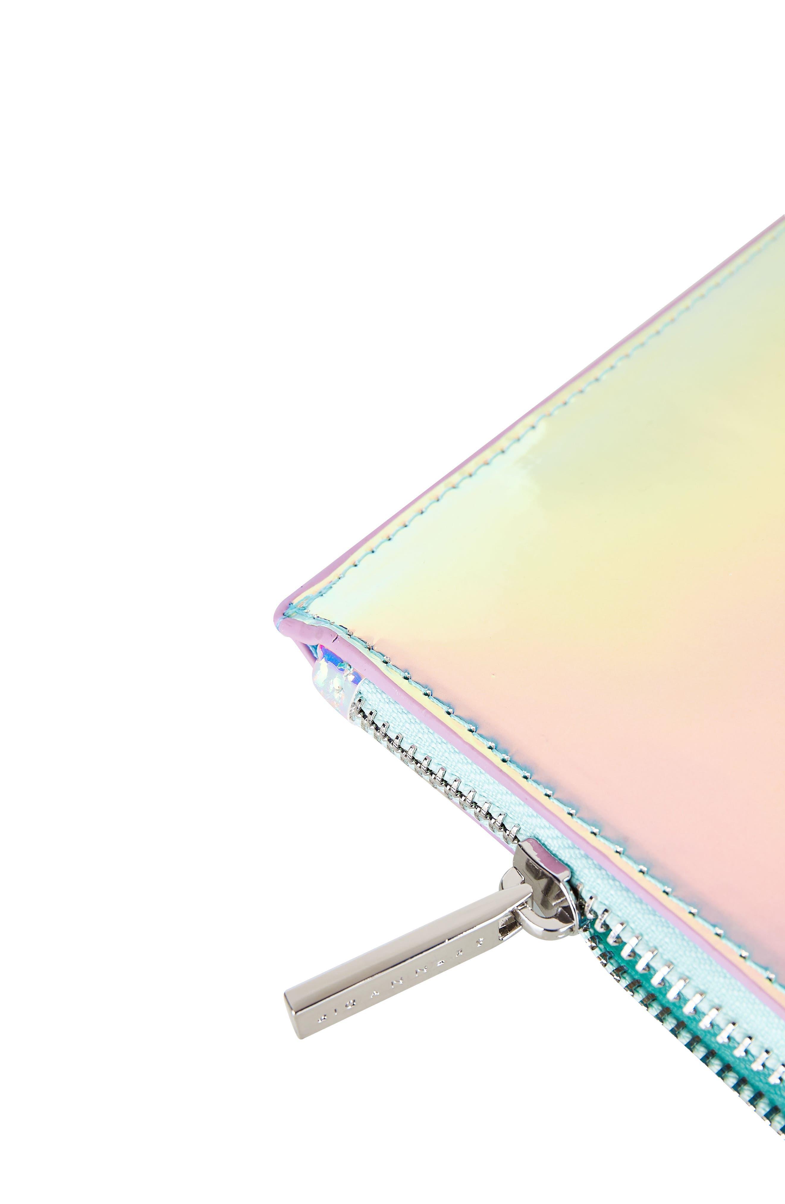 Skinny Dip Ocean Makeup Bag,                             Alternate thumbnail 4, color,                             000