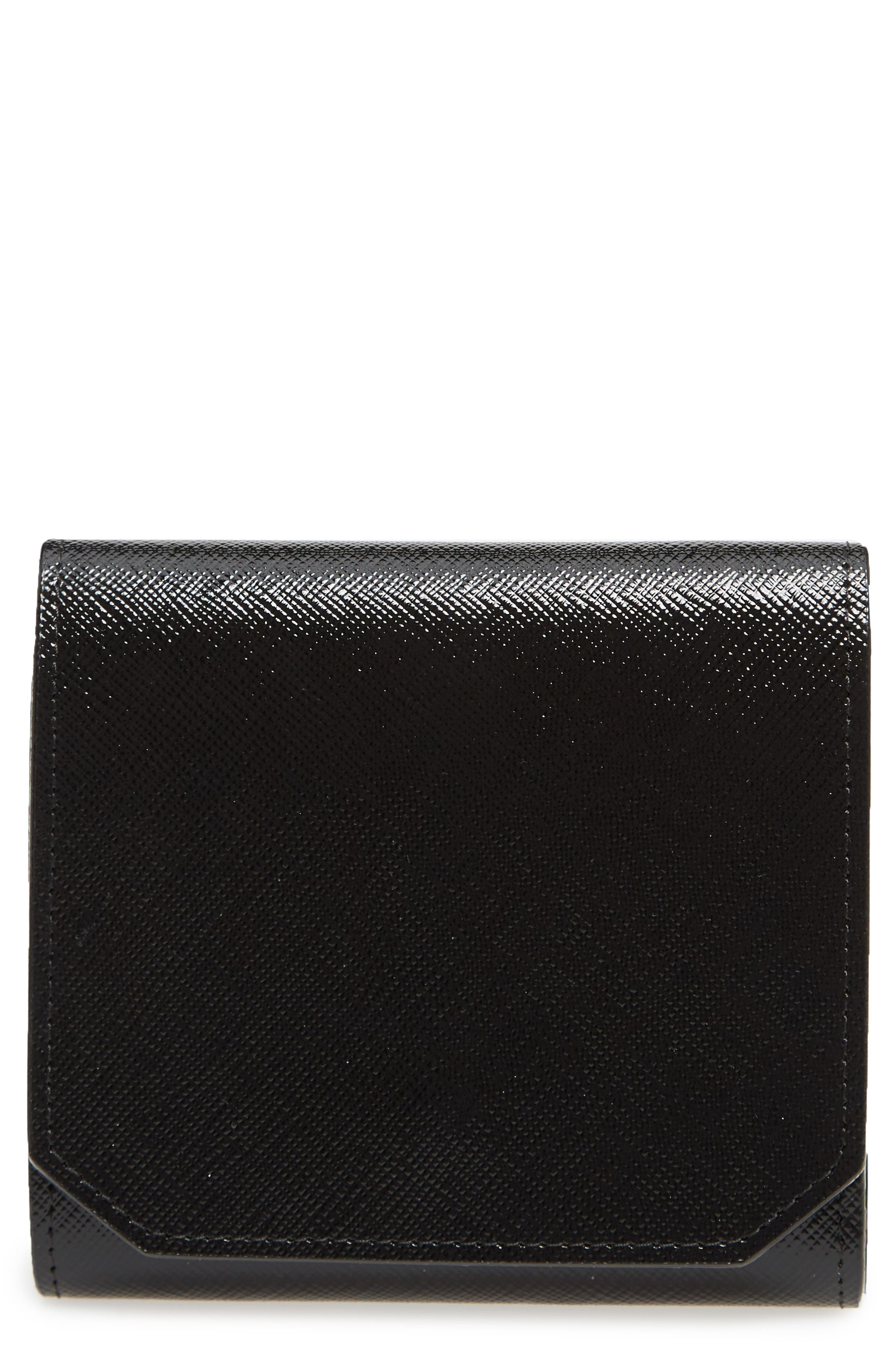 Trifold Leather Envelope Wallet,                         Main,                         color, 001