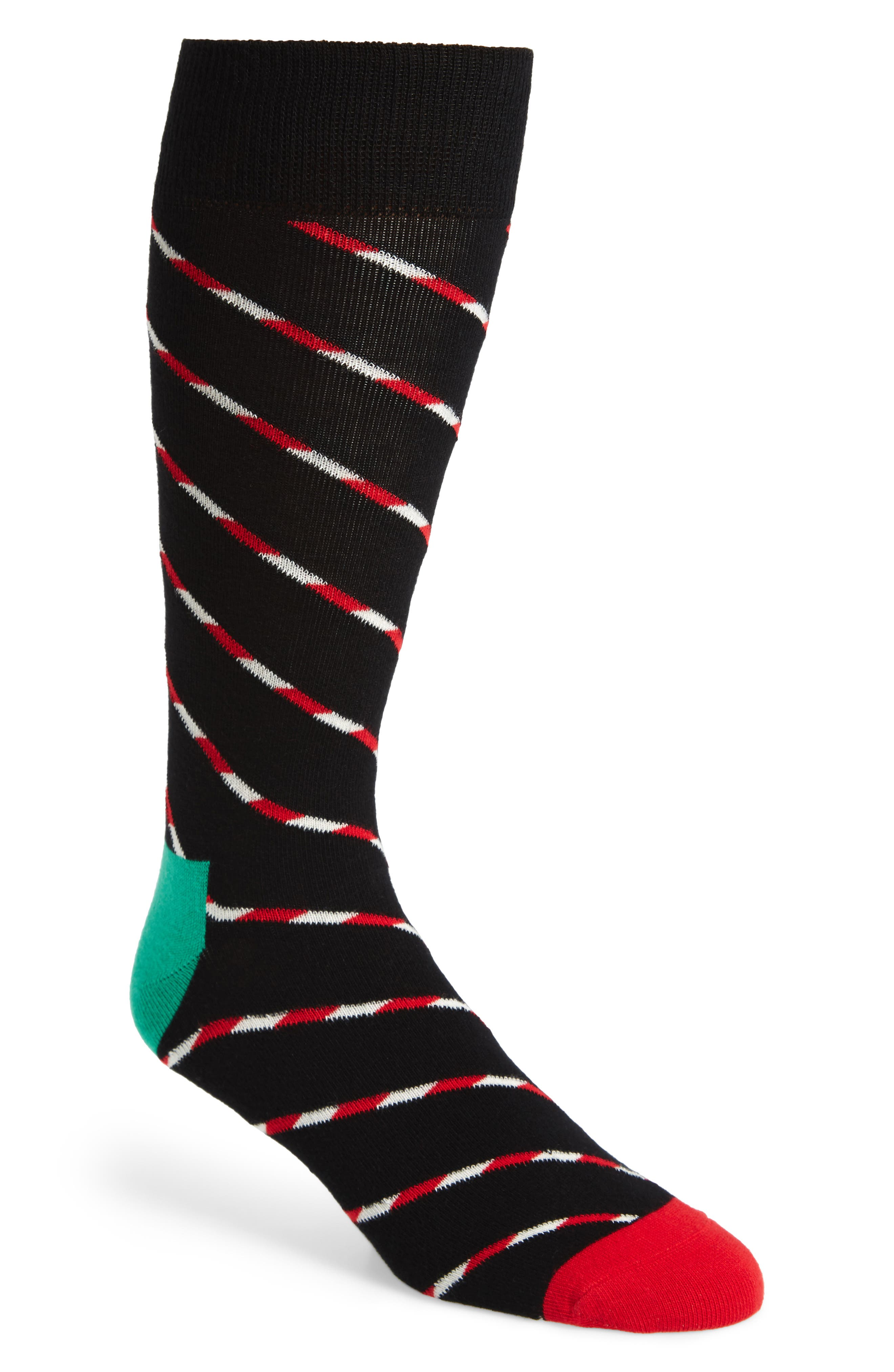 Candy Cane Stripe Socks,                             Main thumbnail 1, color,