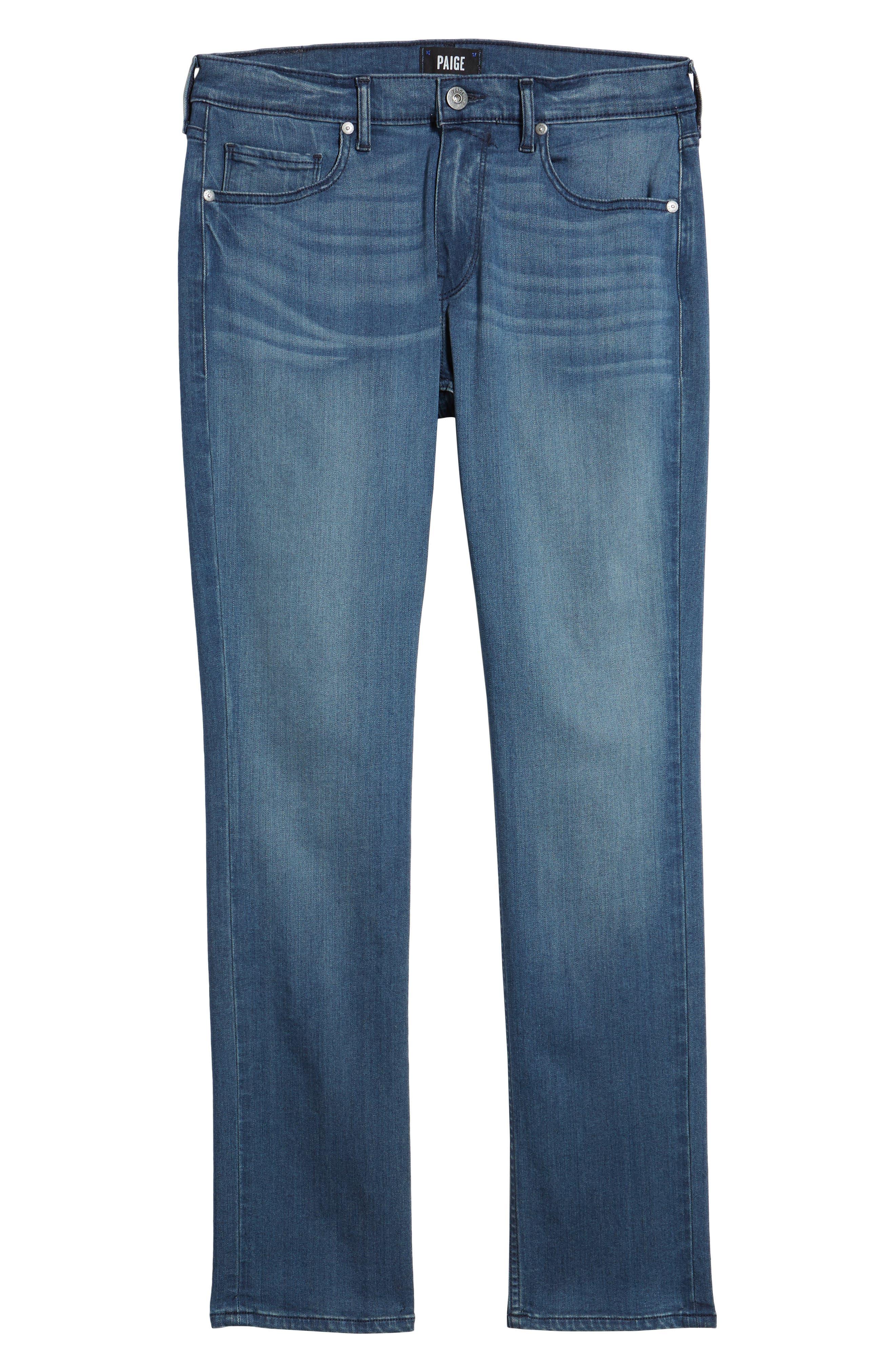 Transcend - Federal Slim Straight Fit Jeans,                             Alternate thumbnail 6, color,                             400