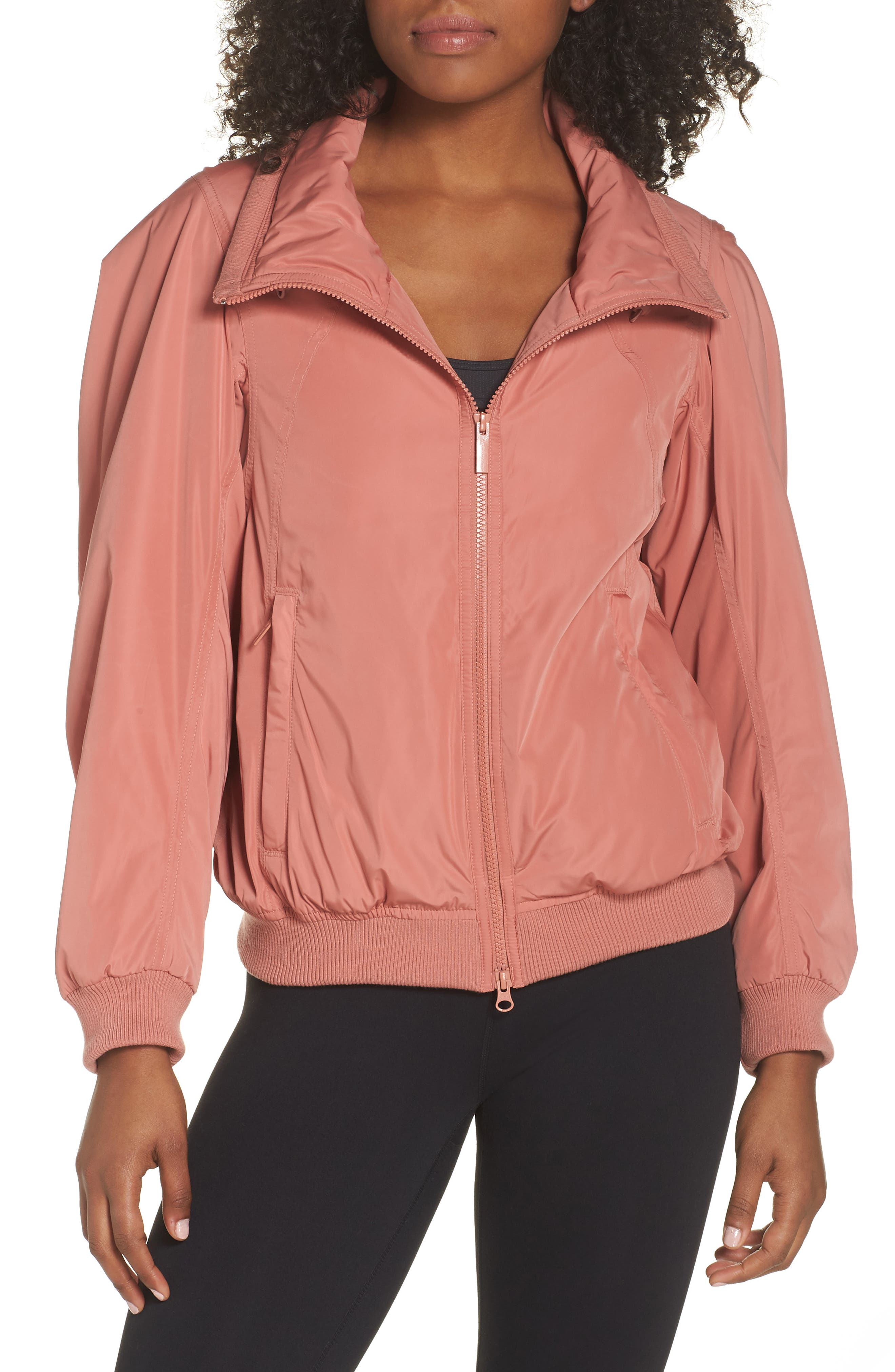 Adidas By Stella Mccartney Gathered Jacket, Pink