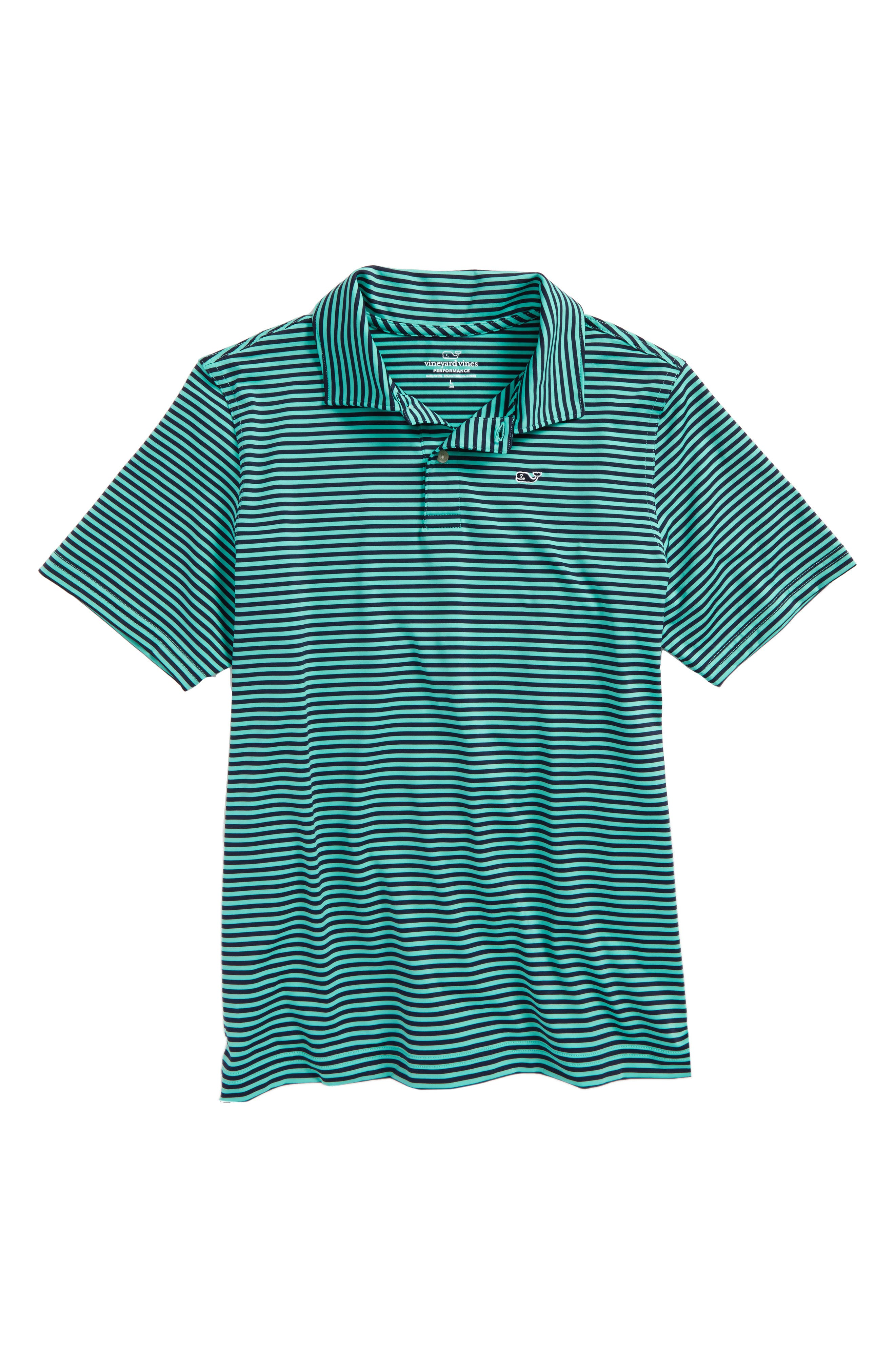 Color & Color Feeder Stripe Performance Polo,                             Main thumbnail 1, color,                             359