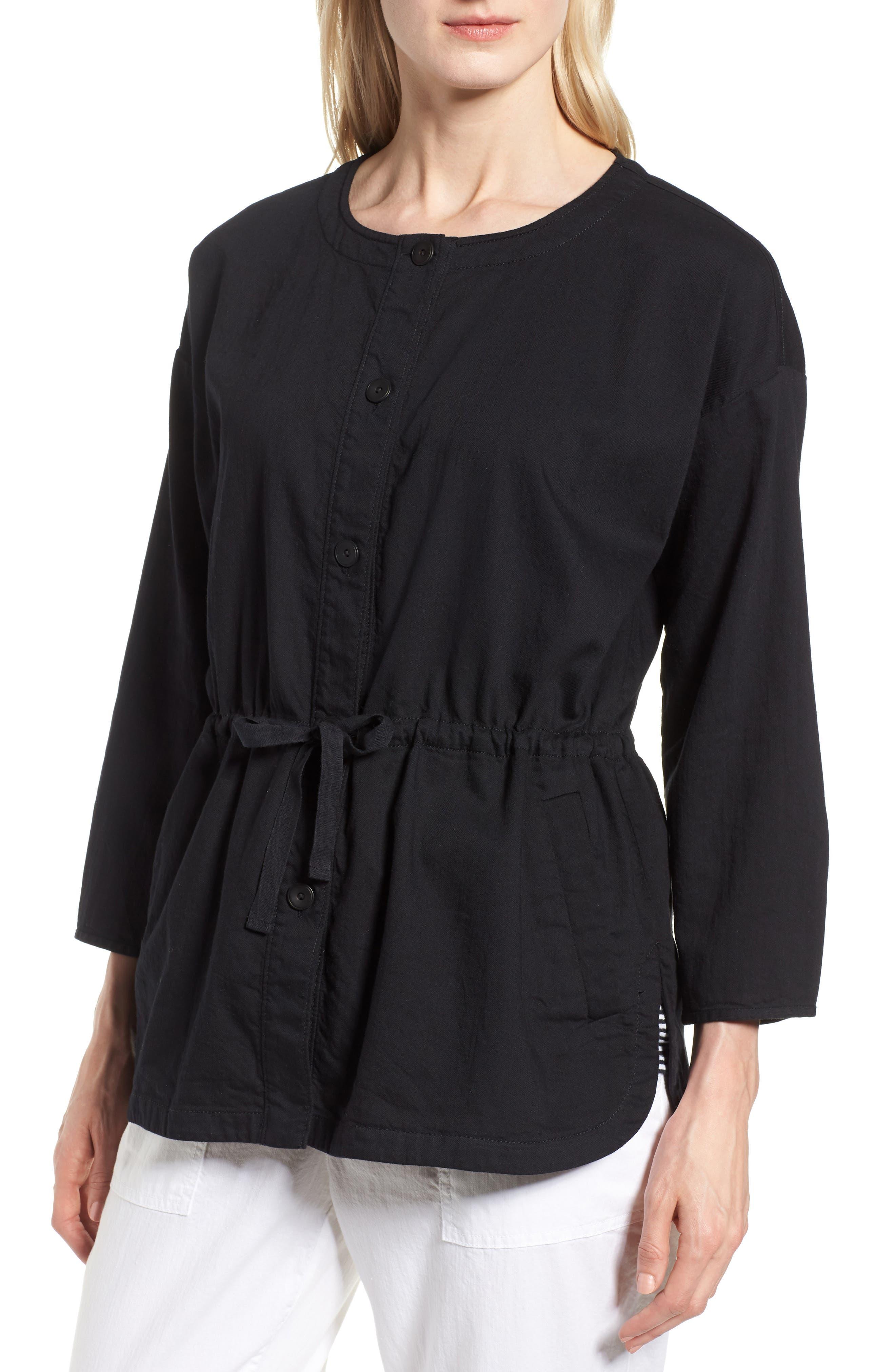 Shirttail Hem Organic Cotton Jacket,                             Alternate thumbnail 8, color,