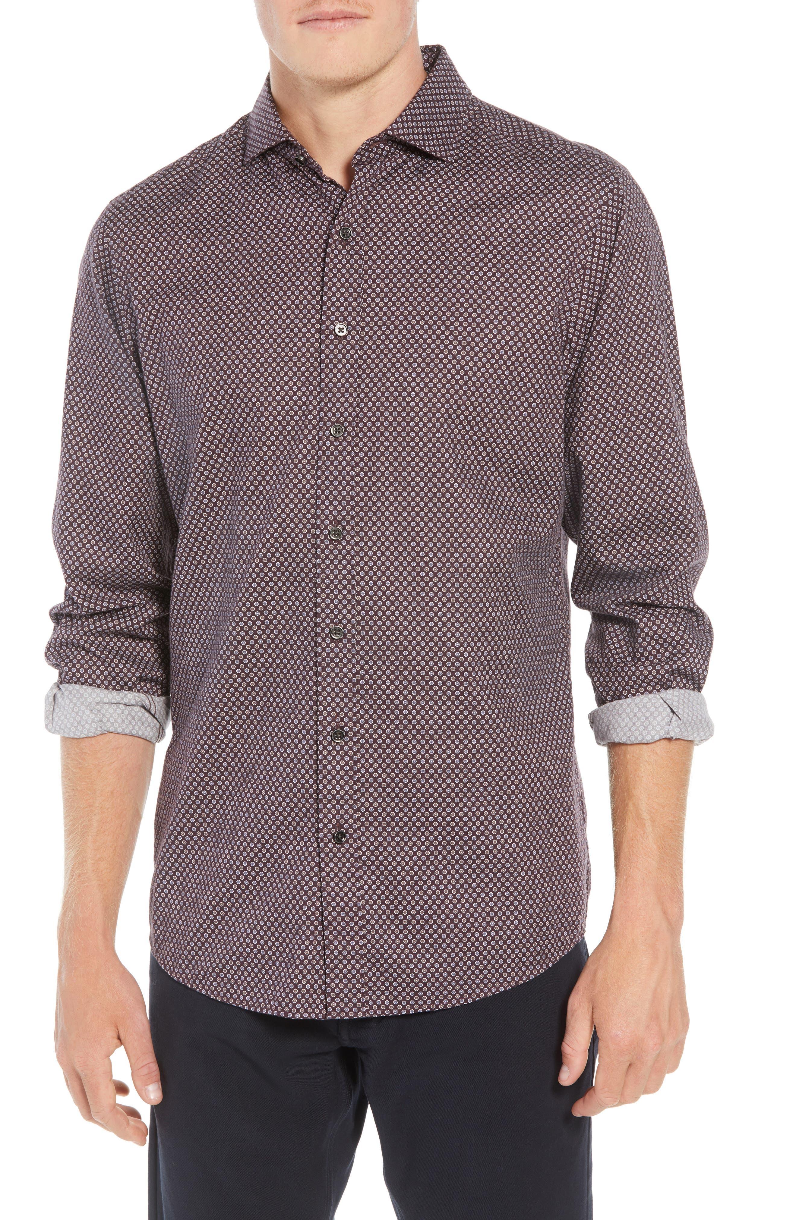 Marsden Bay Regular Fit Sport Shirt,                             Main thumbnail 1, color,                             BORDEAUX