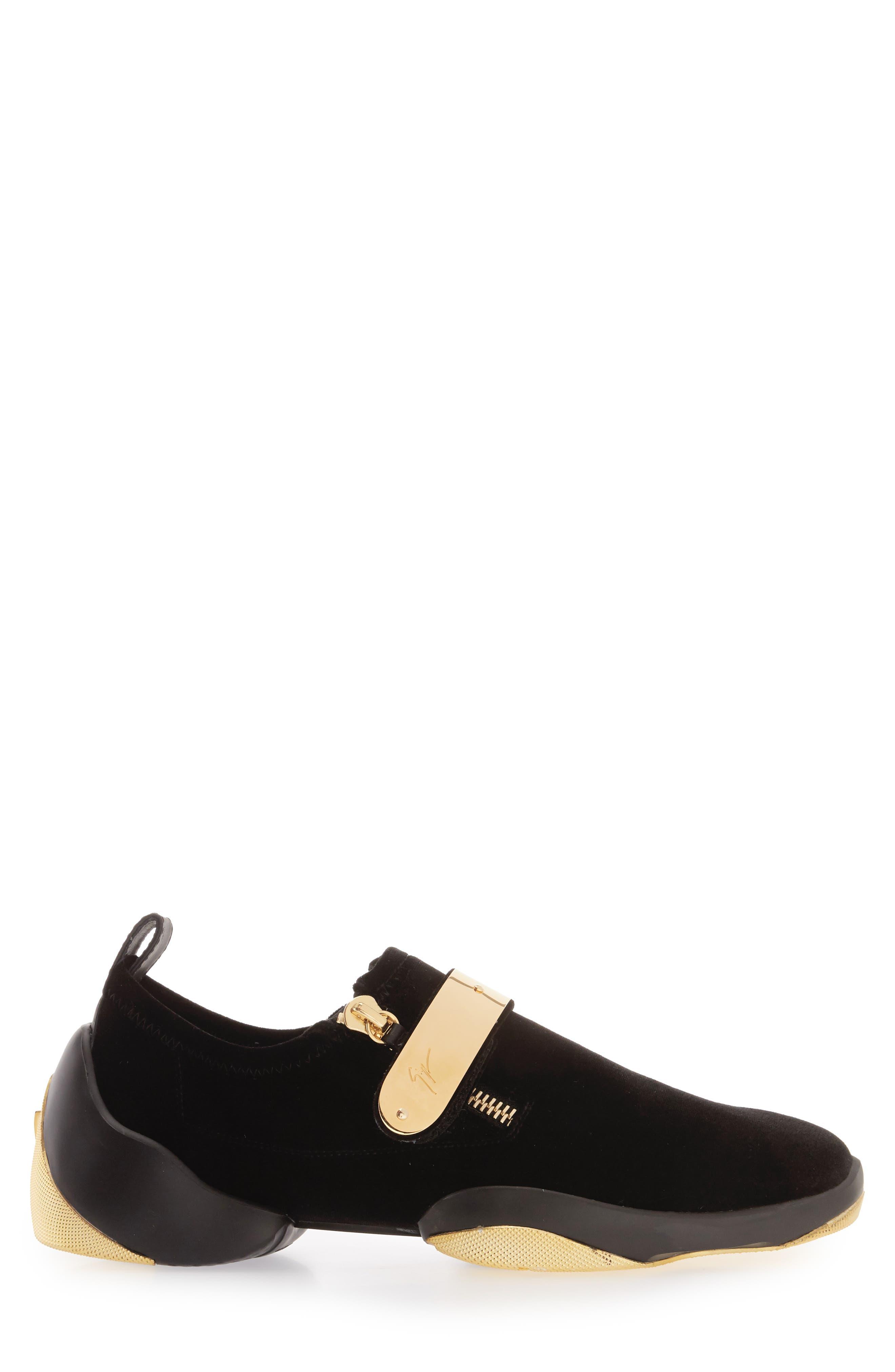 Gold Bar Sneaker,                             Alternate thumbnail 3, color,                             003