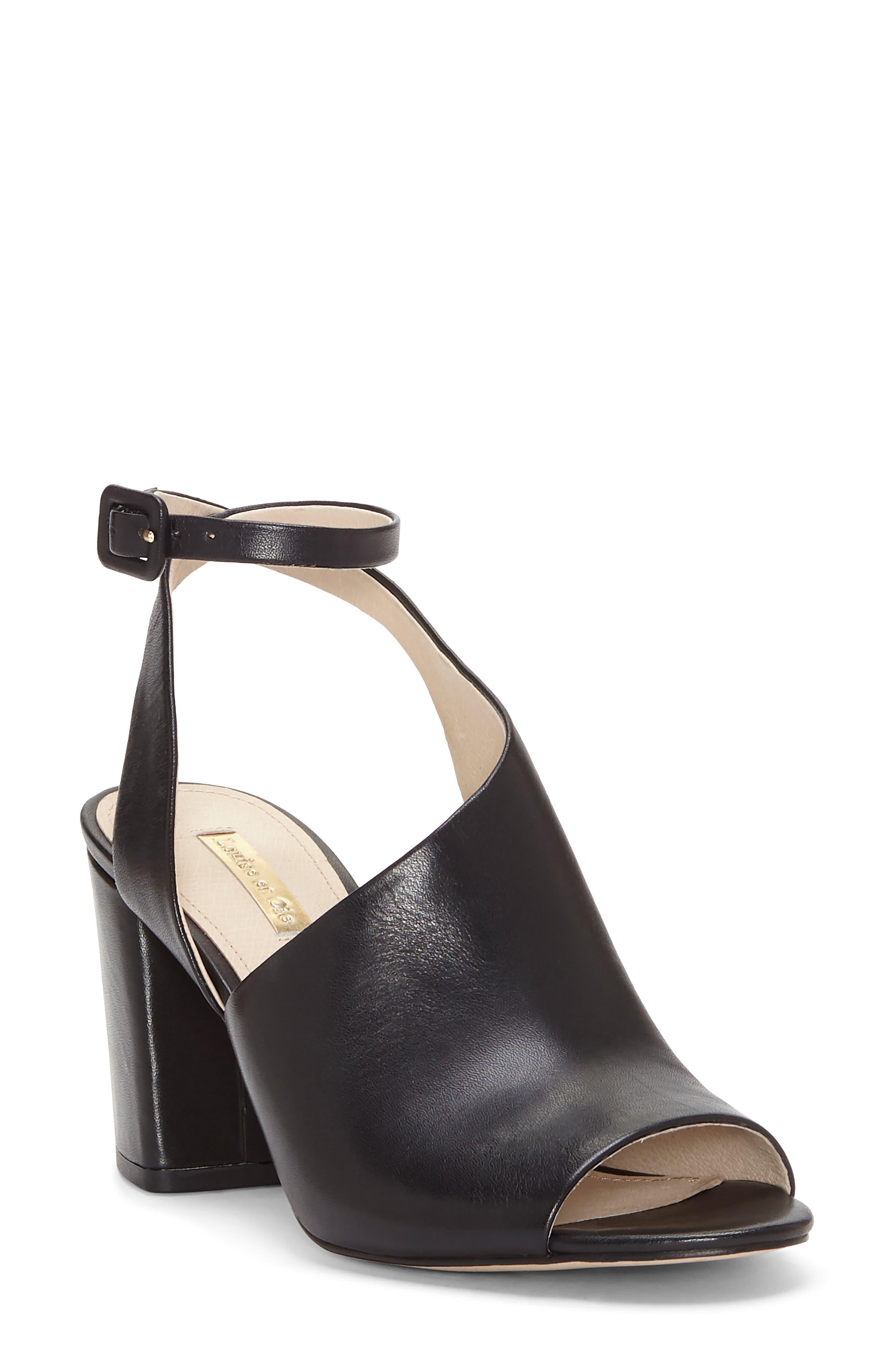 Louise Et Cie Kyvie Asymmetric Shield Sandal- Black