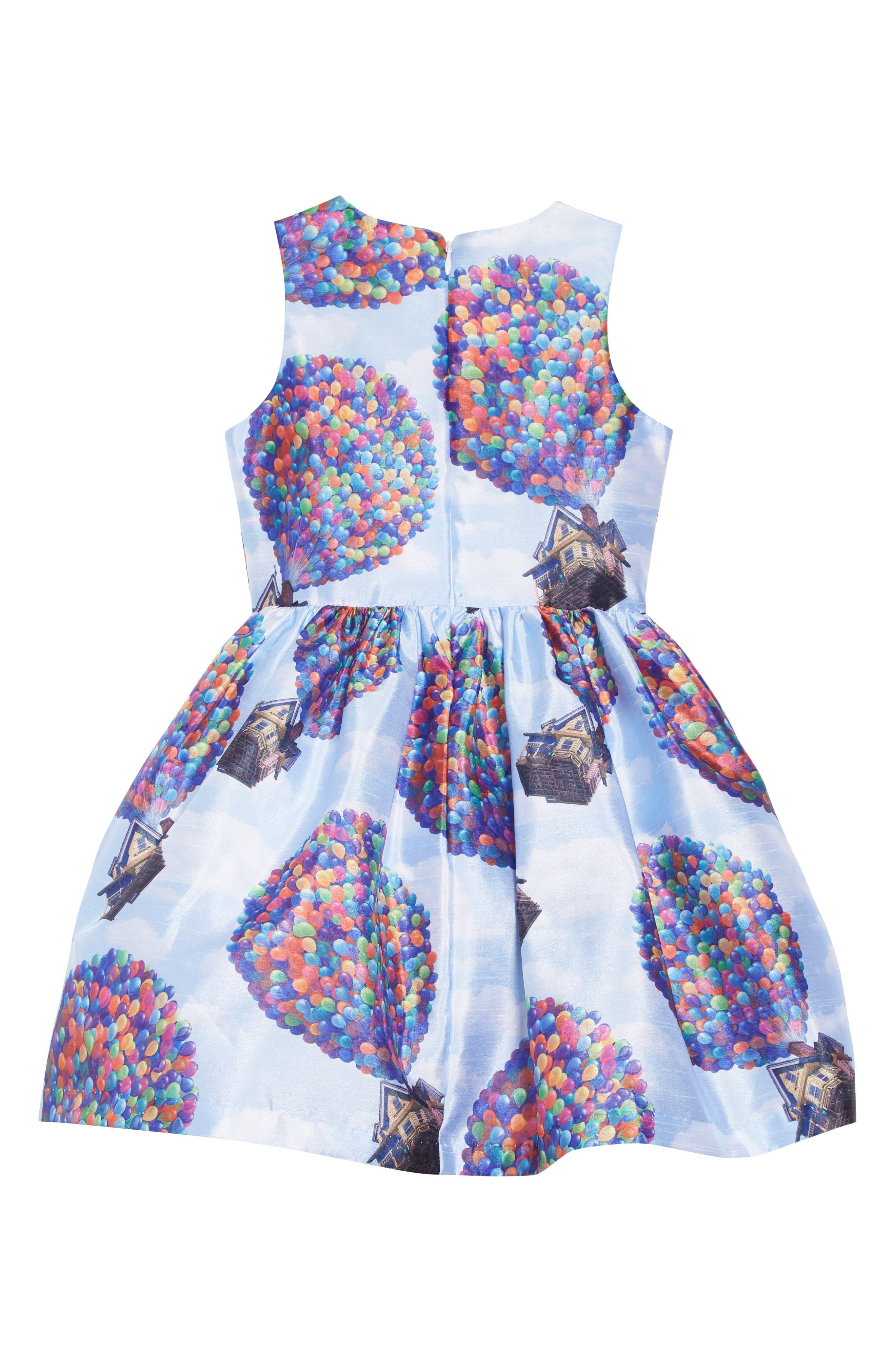 PIPPA & JULIE,                             x Disney<sup>®</sup> Up House Fit & Flare Dress,                             Alternate thumbnail 3, color,                             BLUE