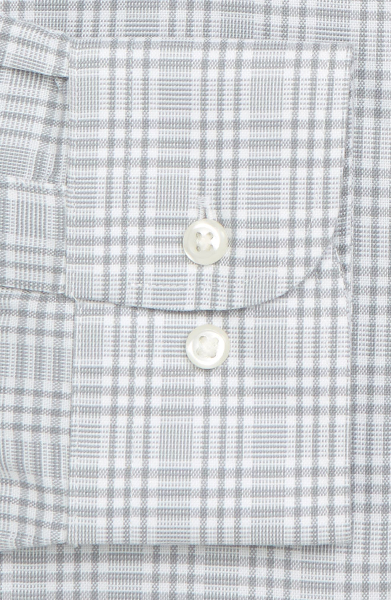 Smartcare<sup>™</sup> Classic Fit Plaid Dress Shirt,                             Alternate thumbnail 6, color,                             050