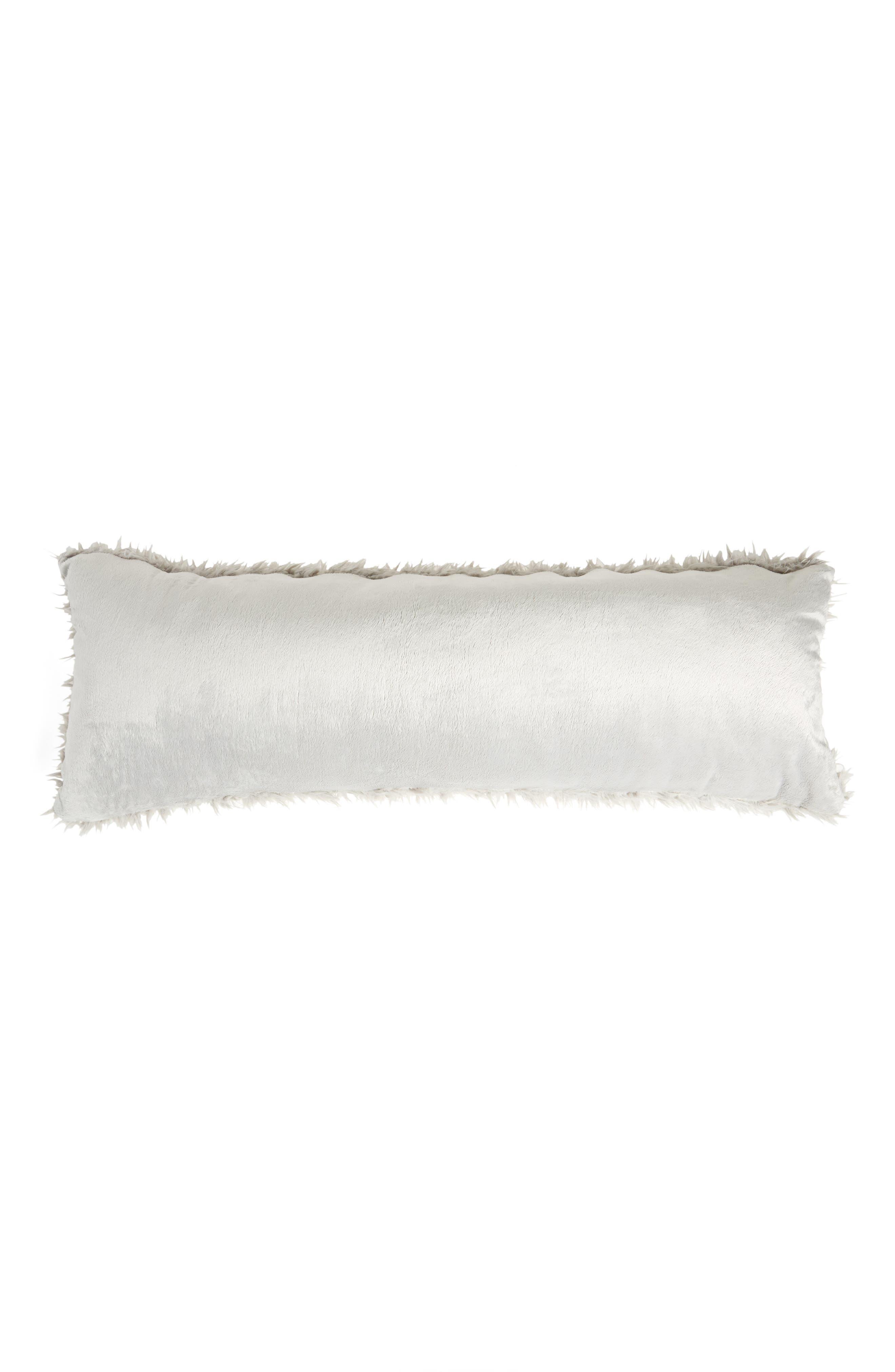 Shaggy Faux Fur Pillow,                             Alternate thumbnail 2, color,                             020