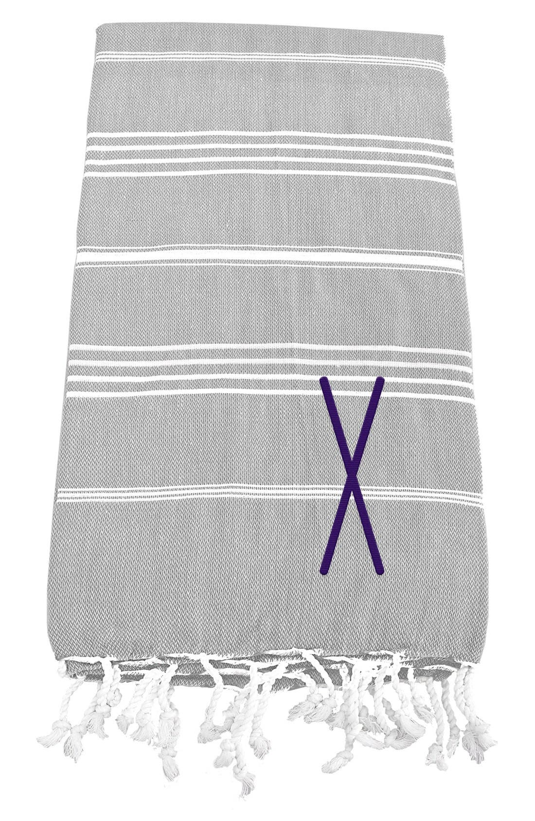 Monogram Turkish Cotton Towel,                             Main thumbnail 26, color,