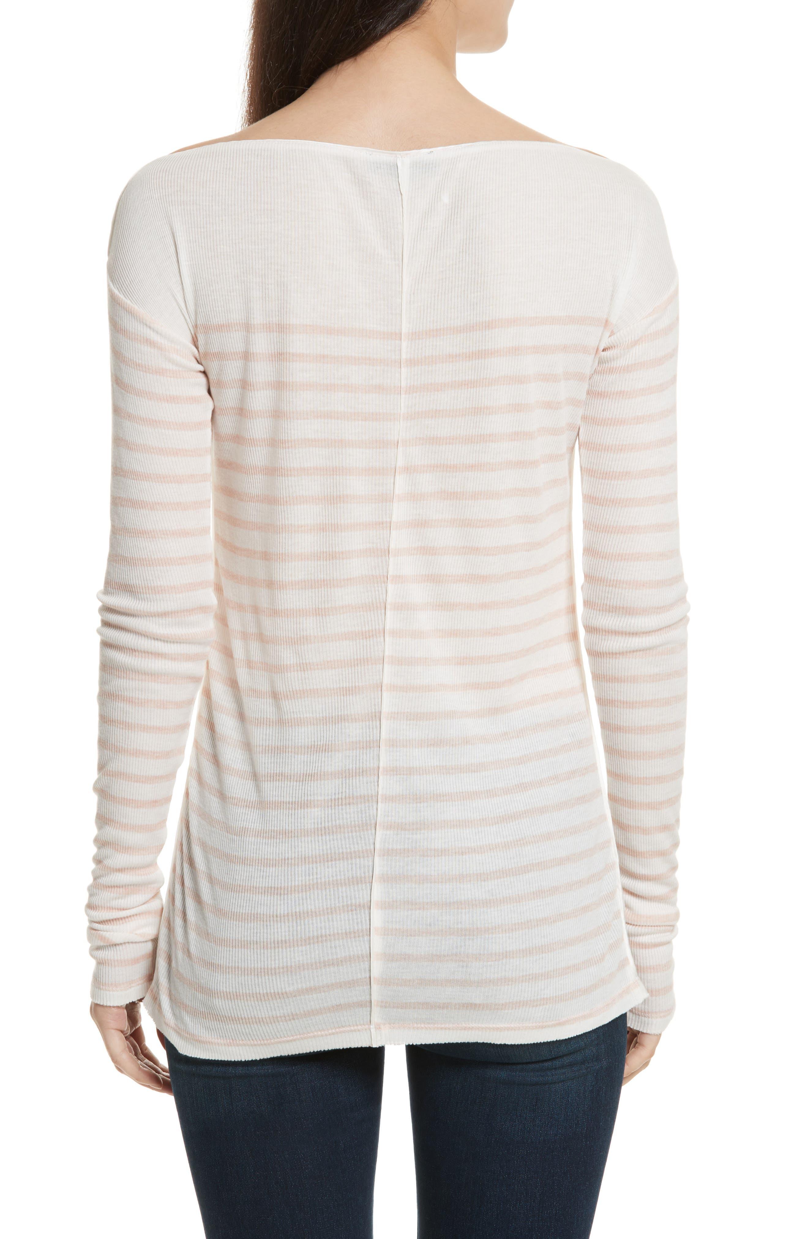 Madison Stripe Long Sleeve Top,                             Alternate thumbnail 2, color,                             900