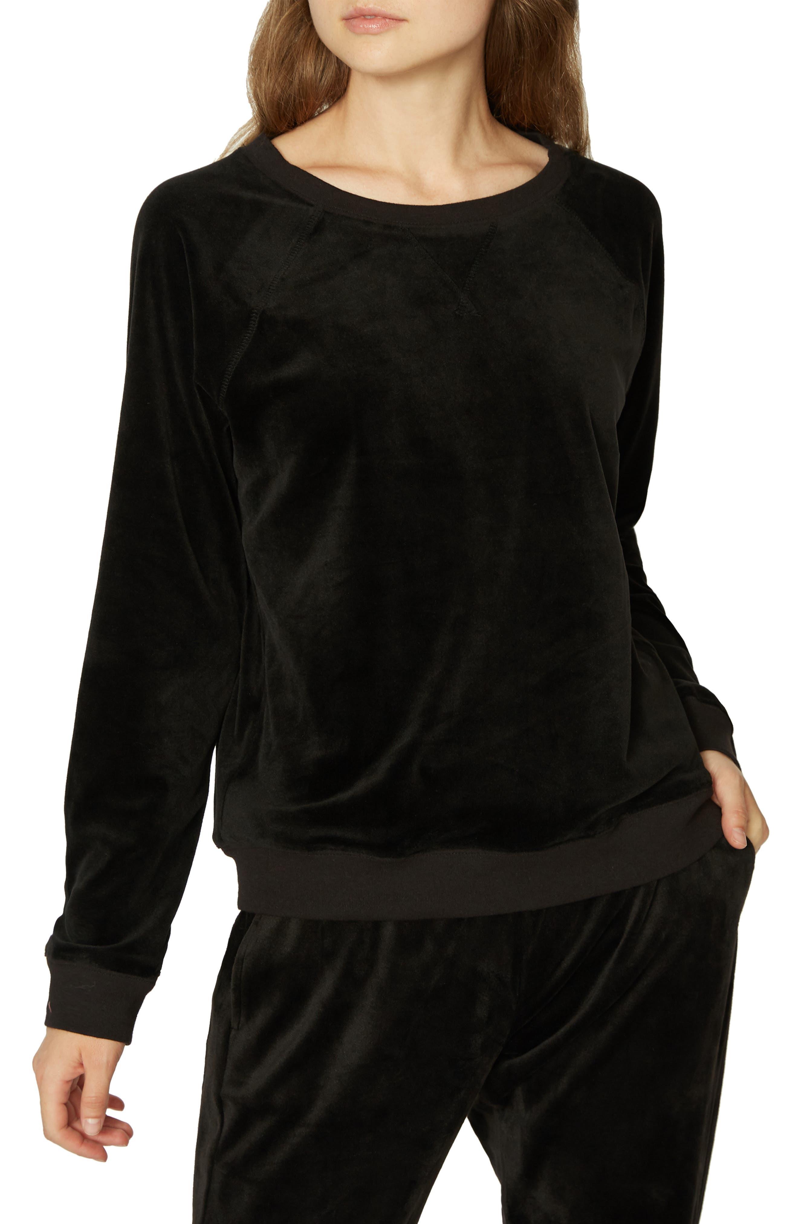 La Brea Velour Pullover,                         Main,                         color, 001