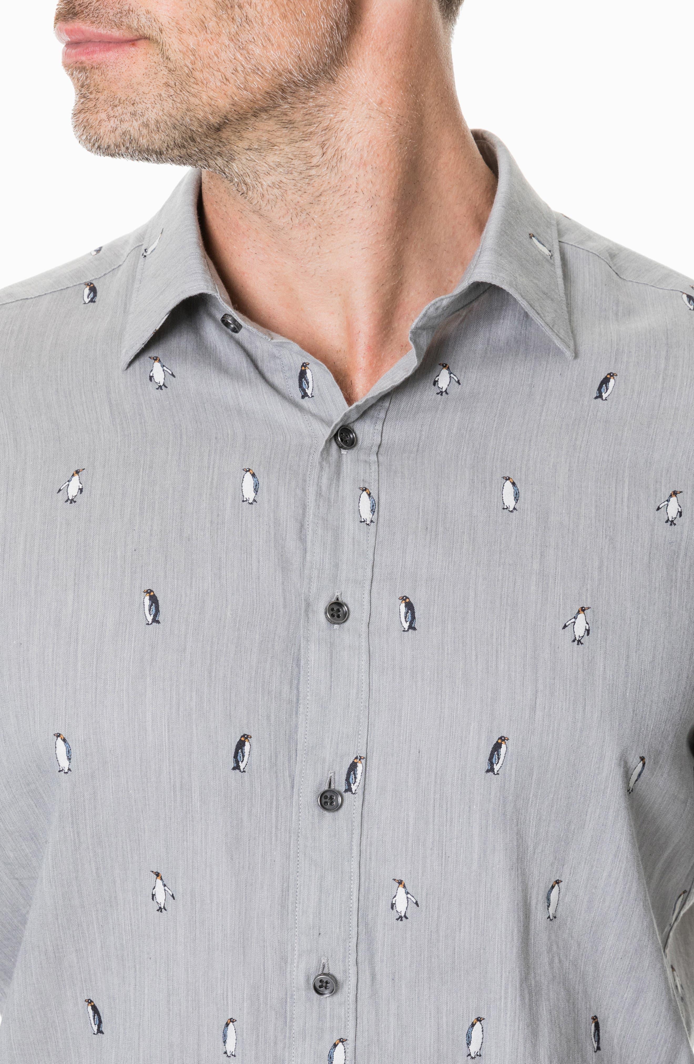 Hillersden Regular Fit Penguin Sport Shirt,                             Alternate thumbnail 2, color,                             PEBBLE