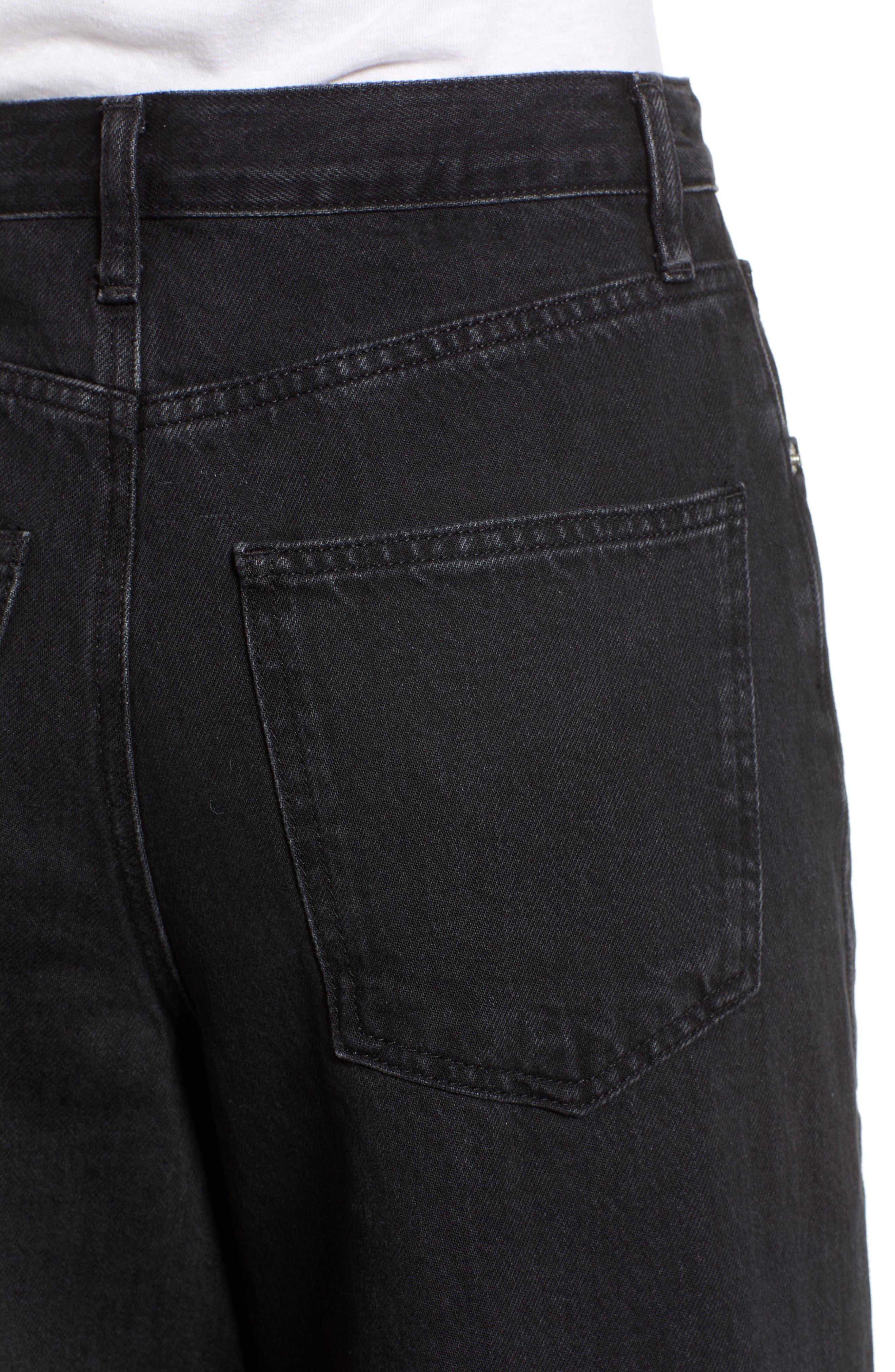 Mid Denim Wide Leg Jeans,                             Alternate thumbnail 4, color,