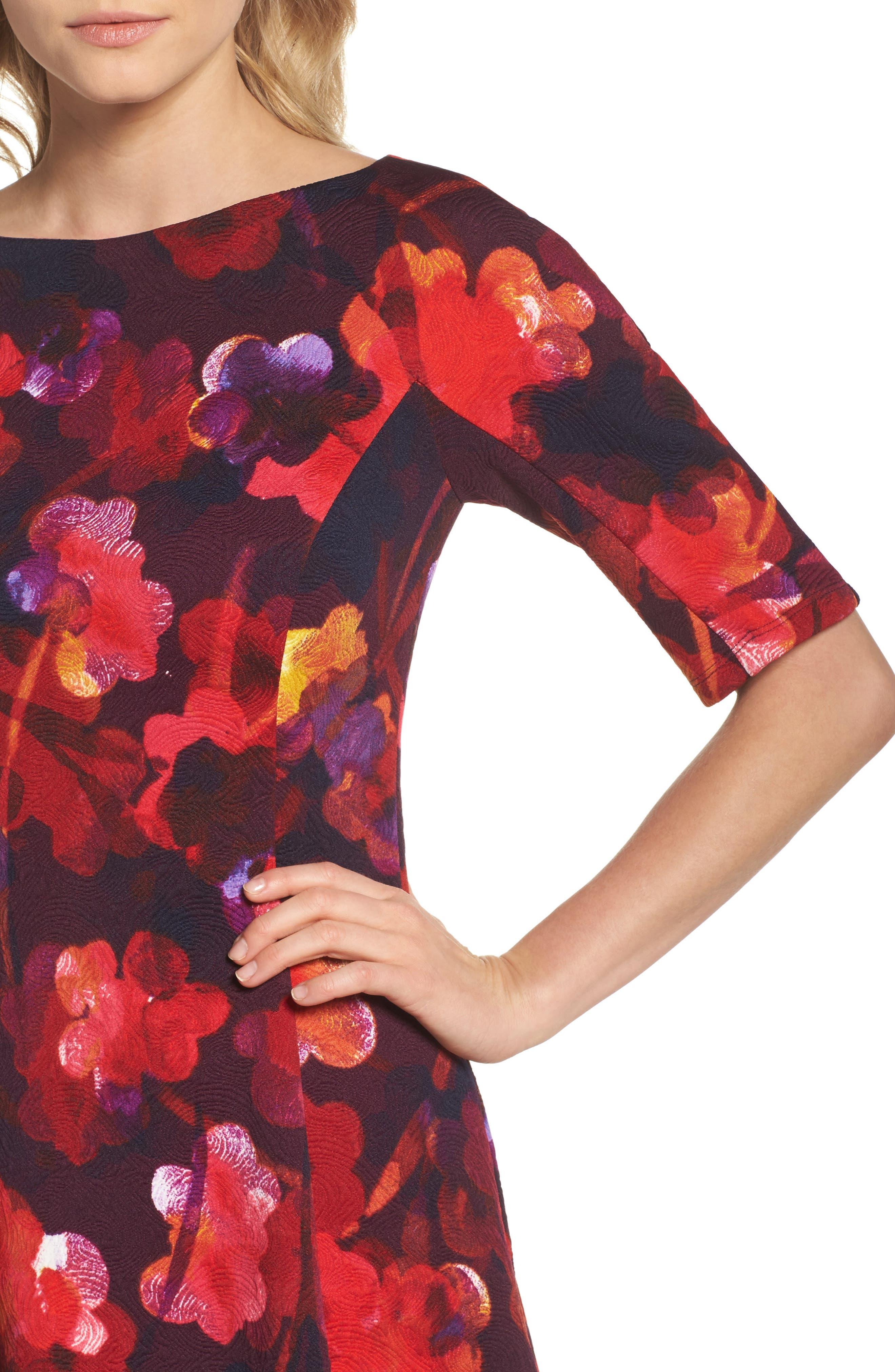 Fit & Flare Dress,                             Alternate thumbnail 4, color,                             646