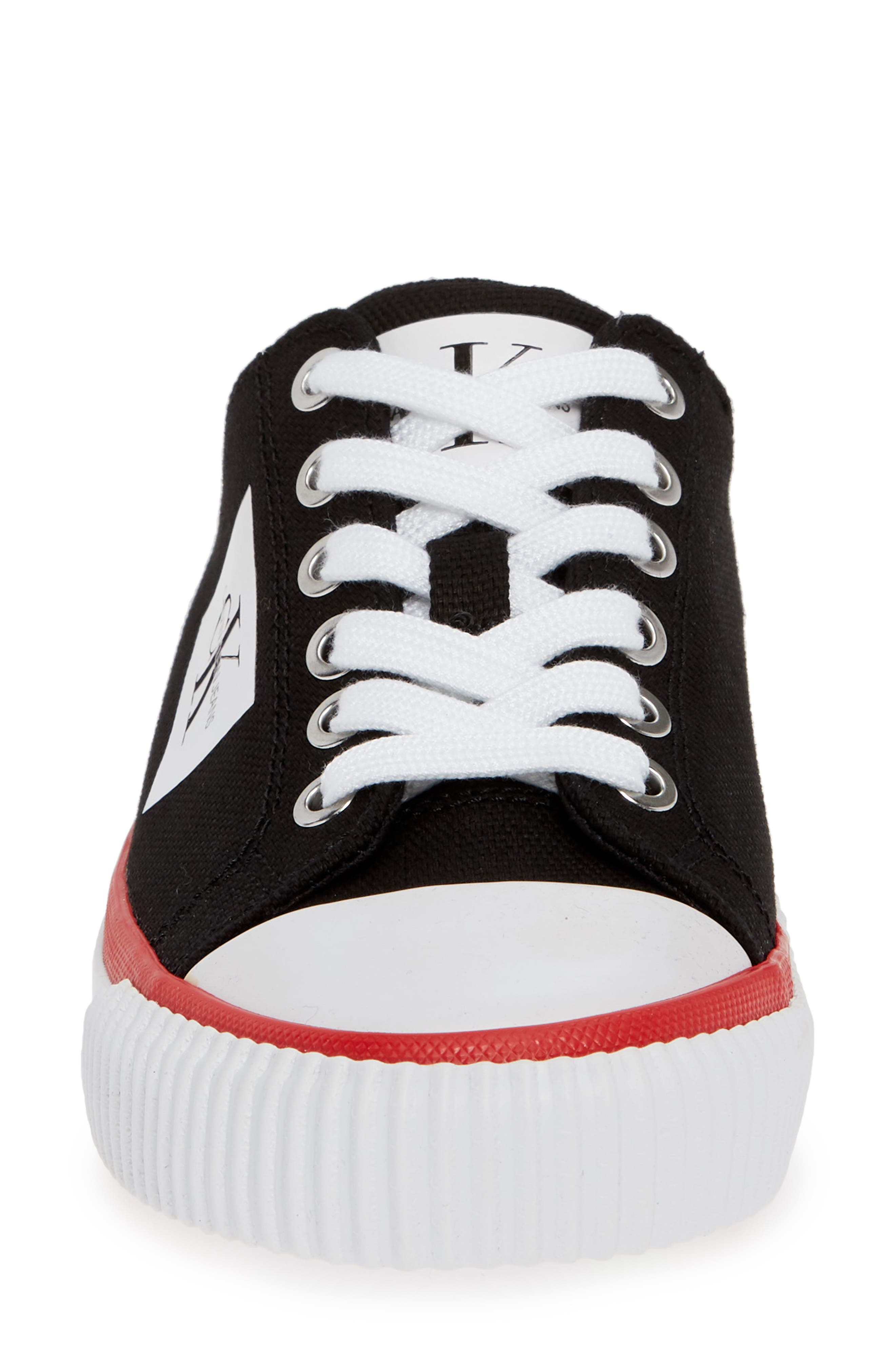 Ivory Lace-Up Sneaker,                             Alternate thumbnail 4, color,                             001