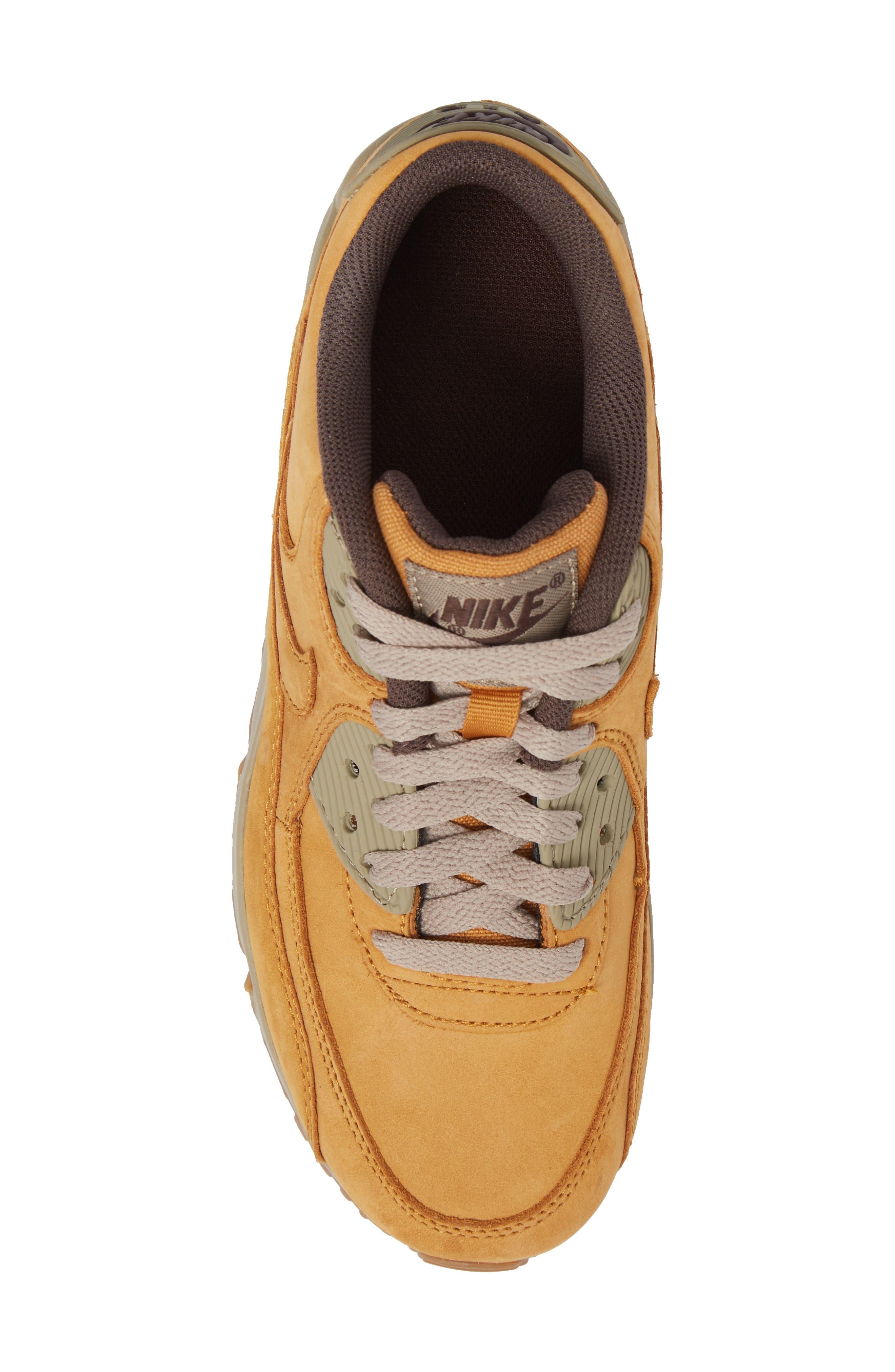 Air Max 90 Winter Premium Sneaker,                             Alternate thumbnail 5, color,                             BRONZE