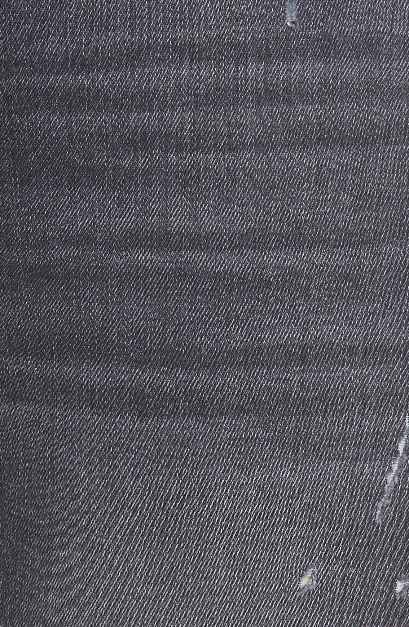 Good High Waist Ankle Skinny Jeans,                             Alternate thumbnail 5, color,                             BLACK MAGIC
