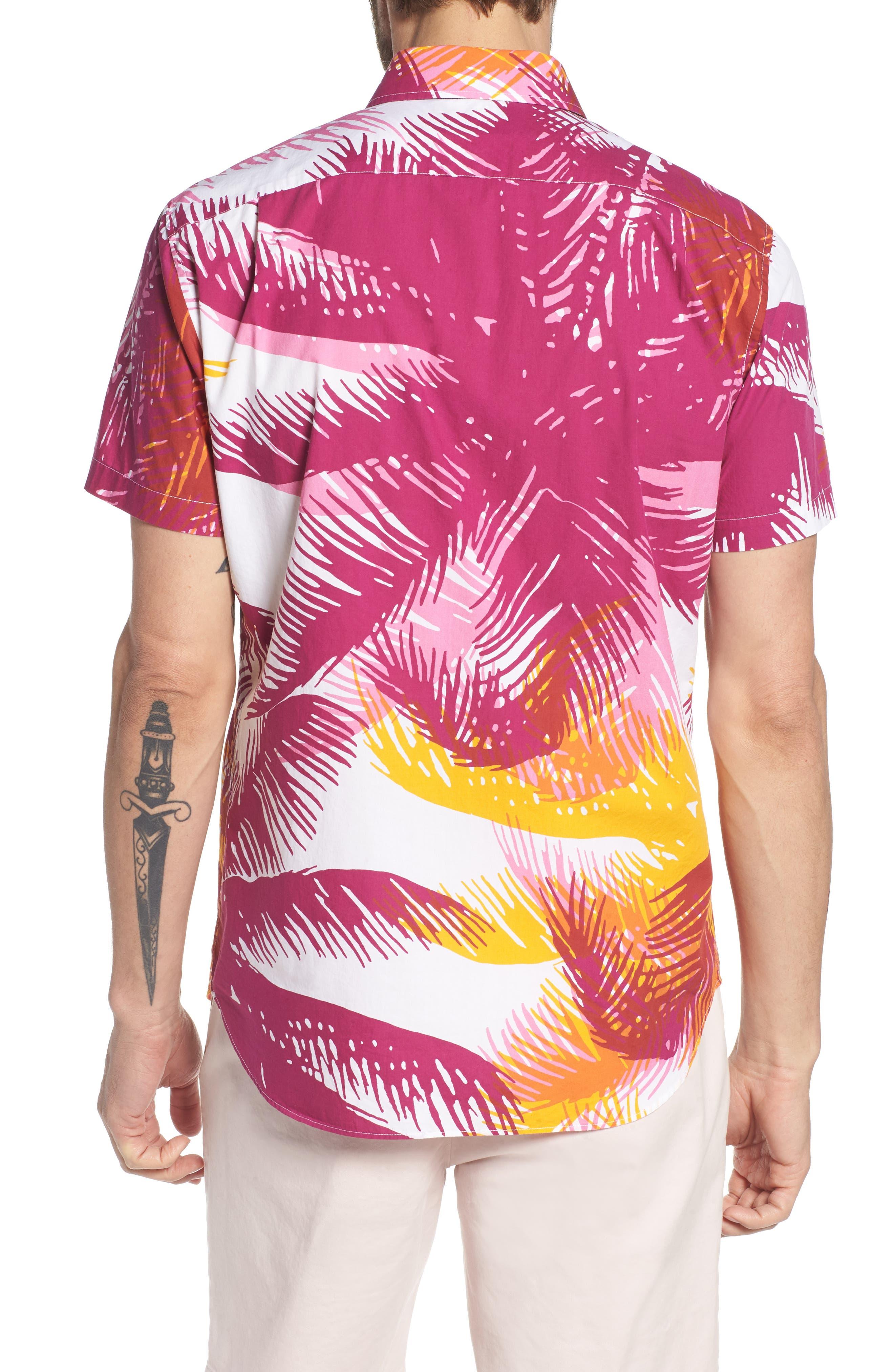 Premium Slim Fit Print Sport Shirt,                             Alternate thumbnail 2, color,