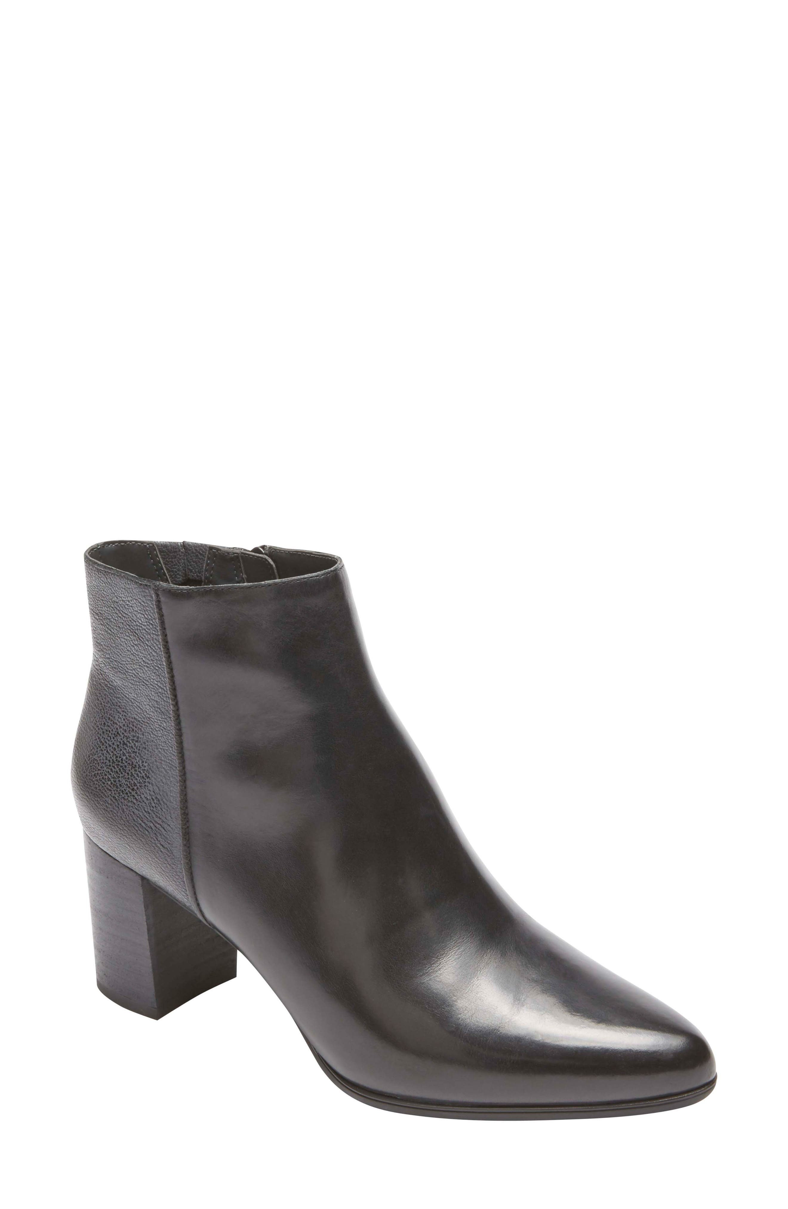 ROCKPORT Total Motion Lynix Bootie, Main, color, BLACK