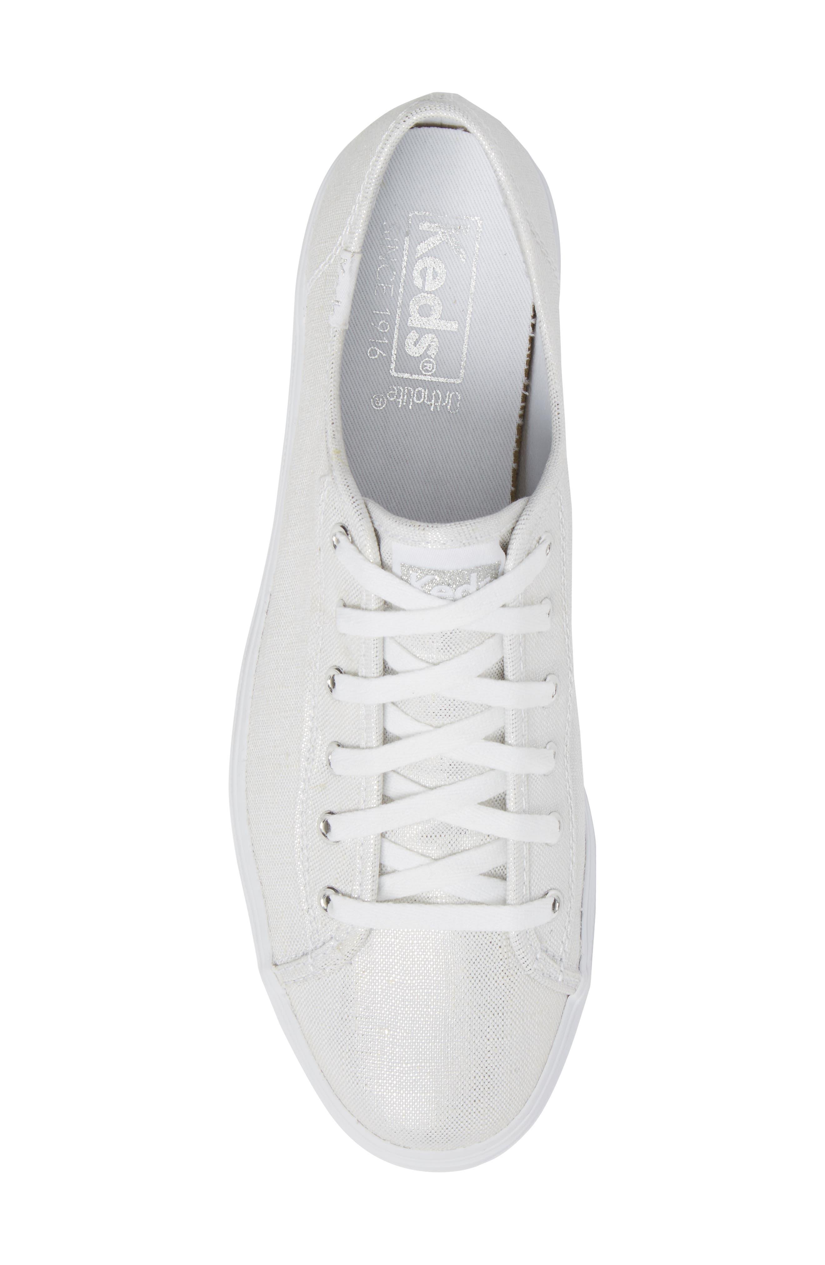 Triple Kick Metallic Linen Sneaker,                             Alternate thumbnail 5, color,                             040