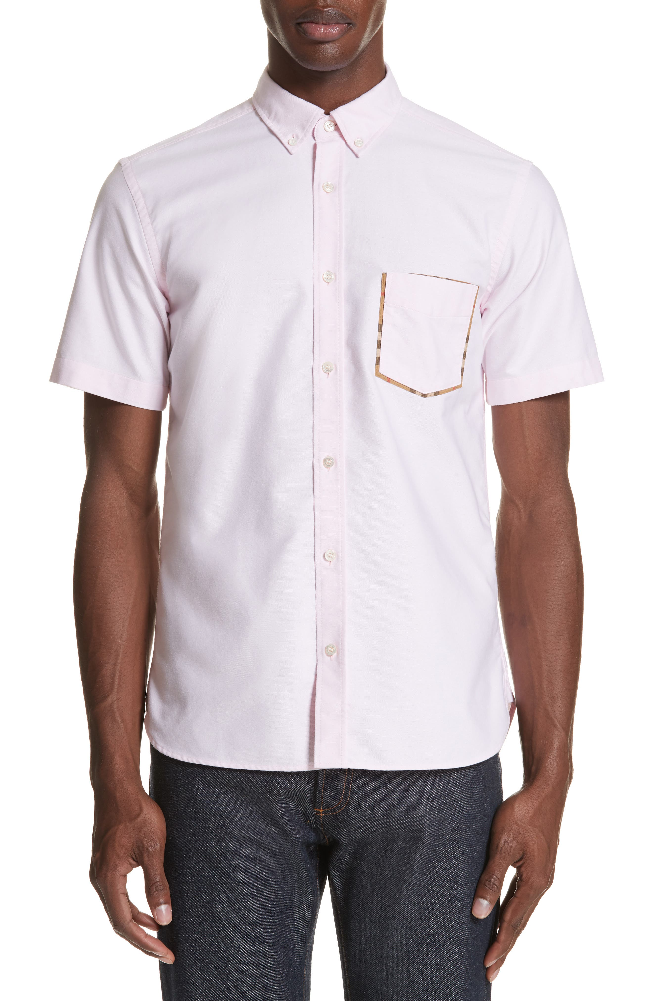 Harry Woven Sport Shirt,                             Main thumbnail 1, color,                             PALE PINK