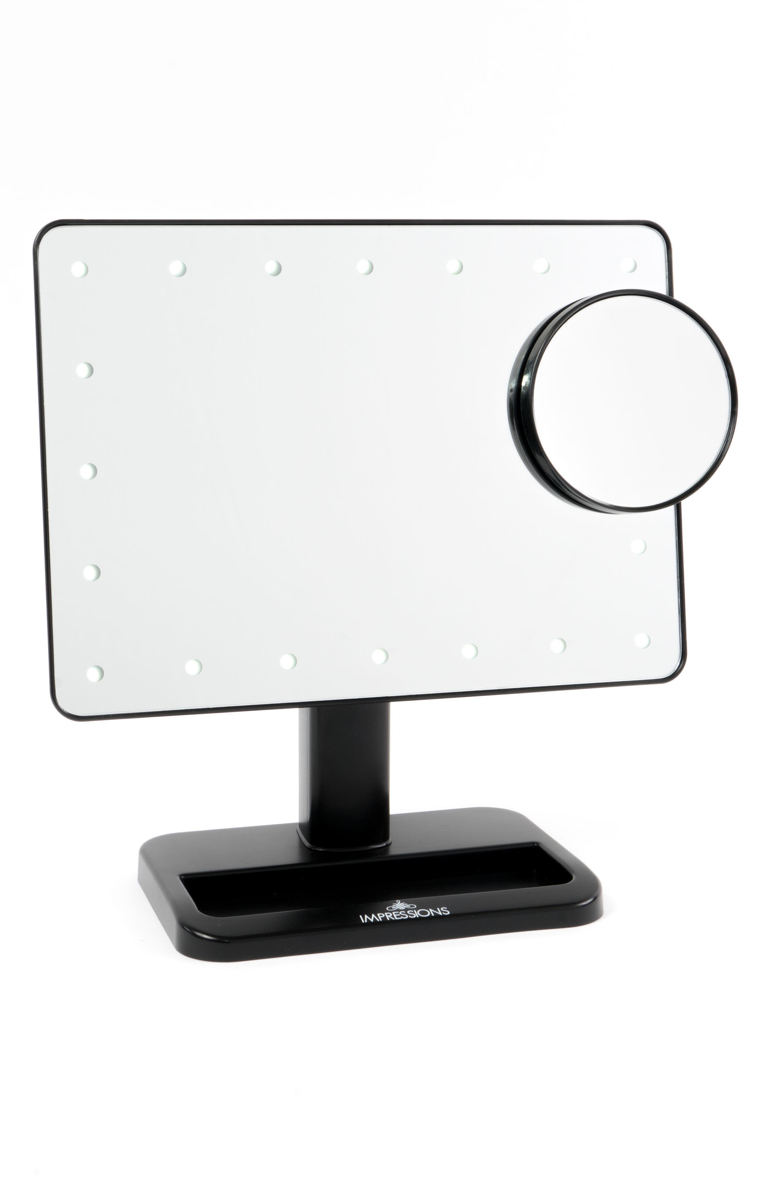 Touch XL Dimmable LED Makeup Mirror with Removable 5x Mirror,                             Alternate thumbnail 6, color,                             001