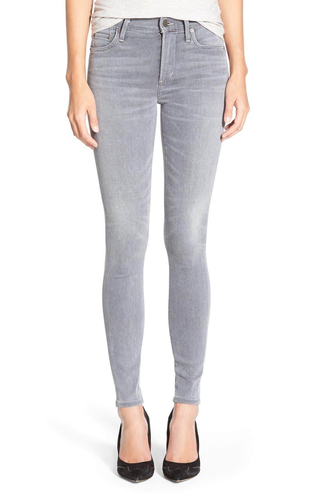 'Sculpt - Rocket' High Rise Skinny Jeans, Main, color, 078