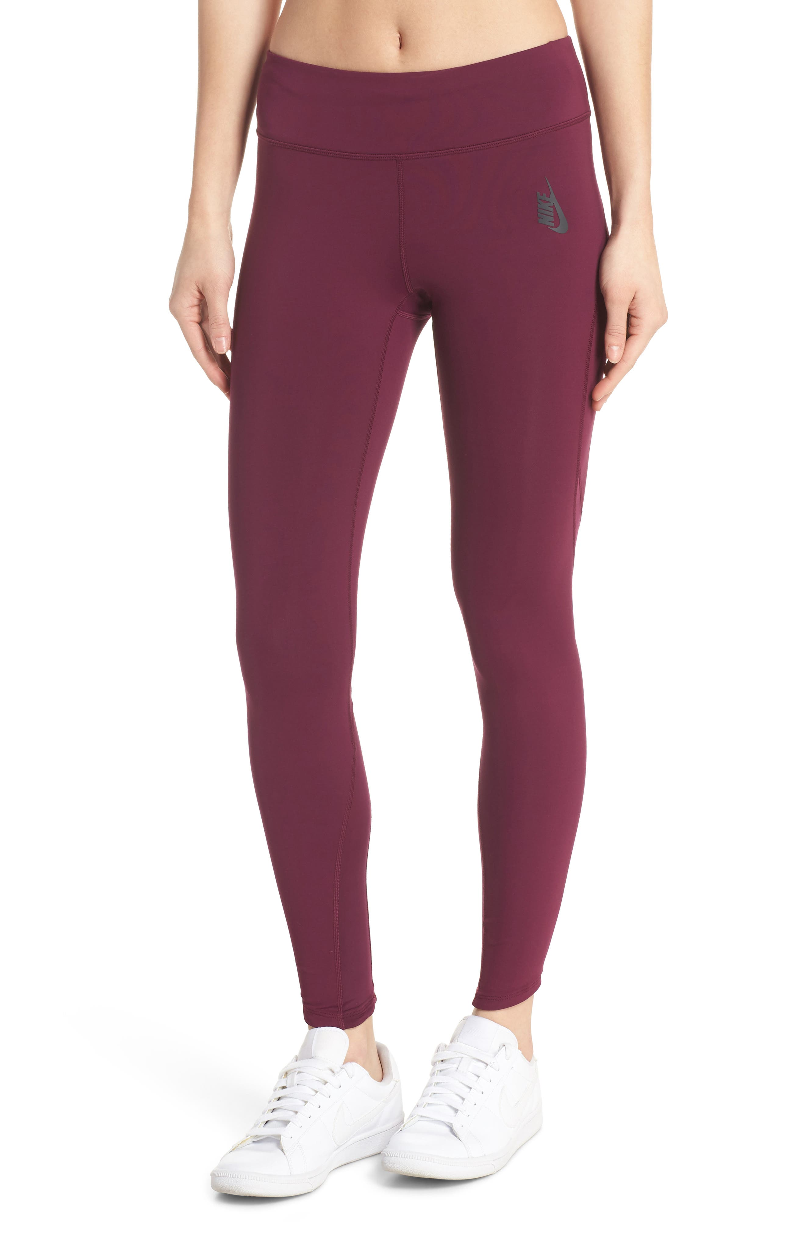 NikeLab Collection Dri-FIT Women's Tights,                         Main,                         color, BORDEAUX