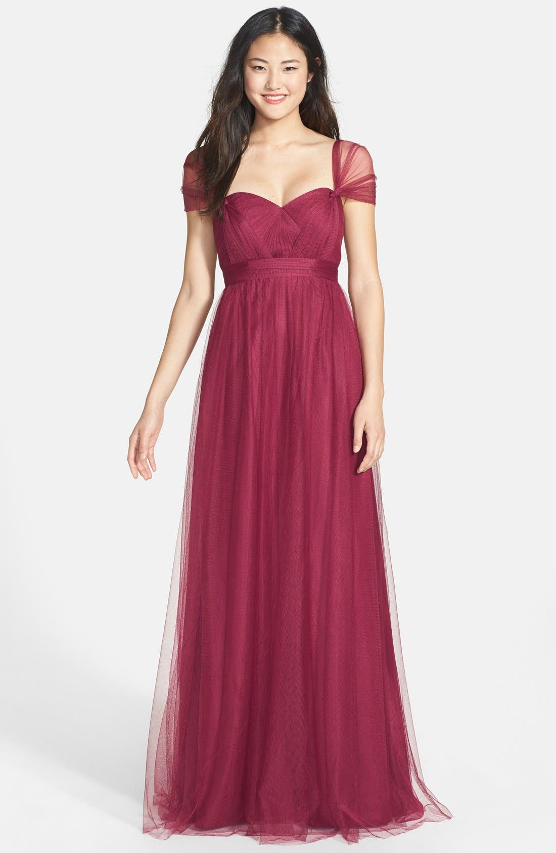 Annabelle Convertible Tulle Column Dress,                             Alternate thumbnail 138, color,