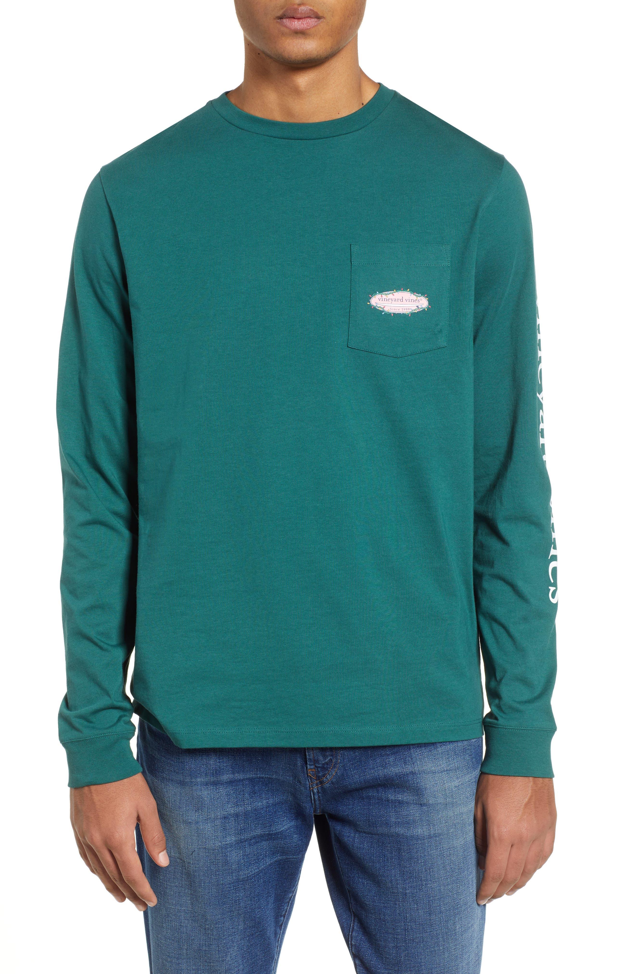 Vineyard Vines Surf Lights Pocket T-Shirt, Green