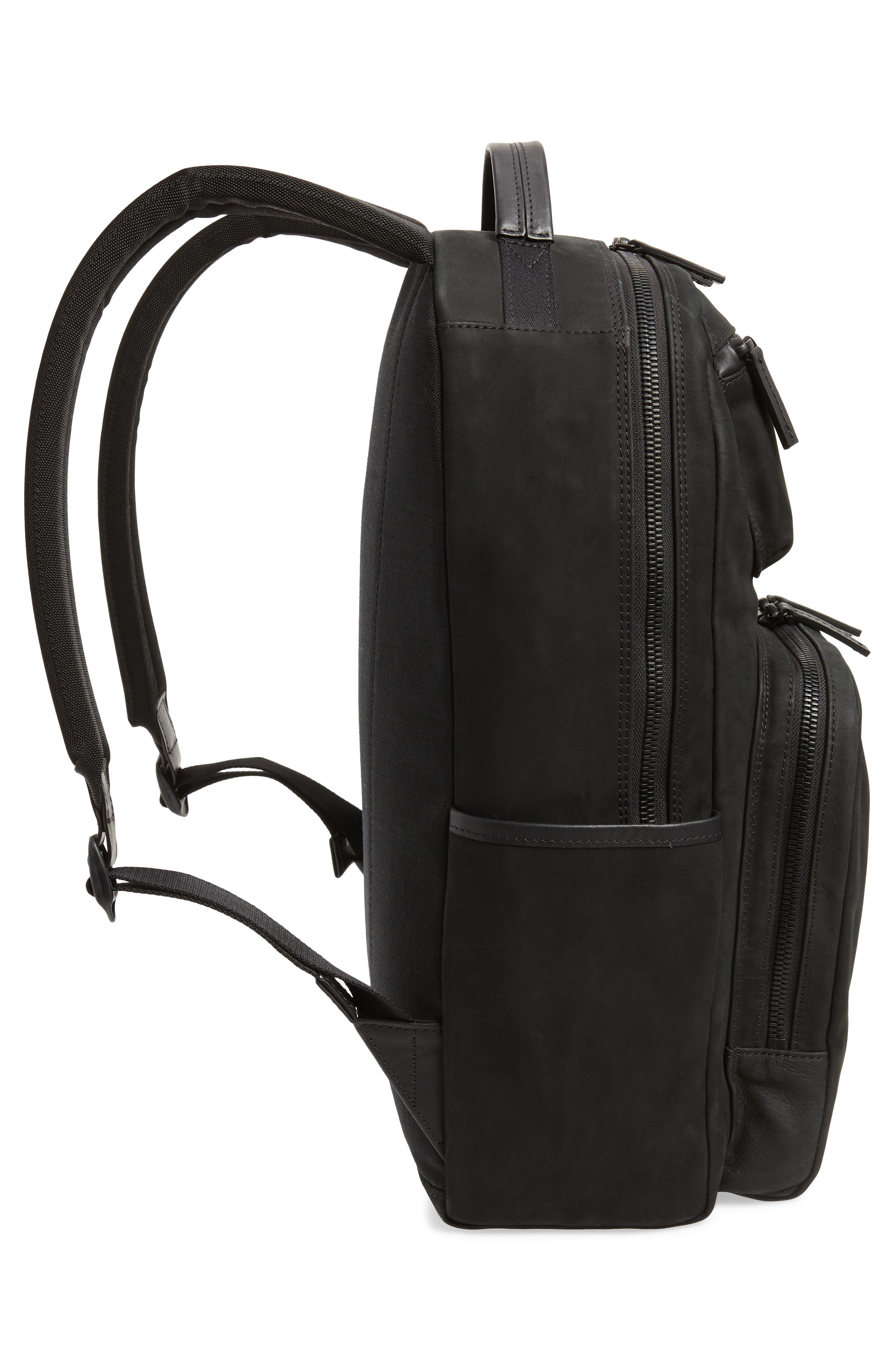 Nubuck Utility Backpack,                             Alternate thumbnail 5, color,                             BLACK