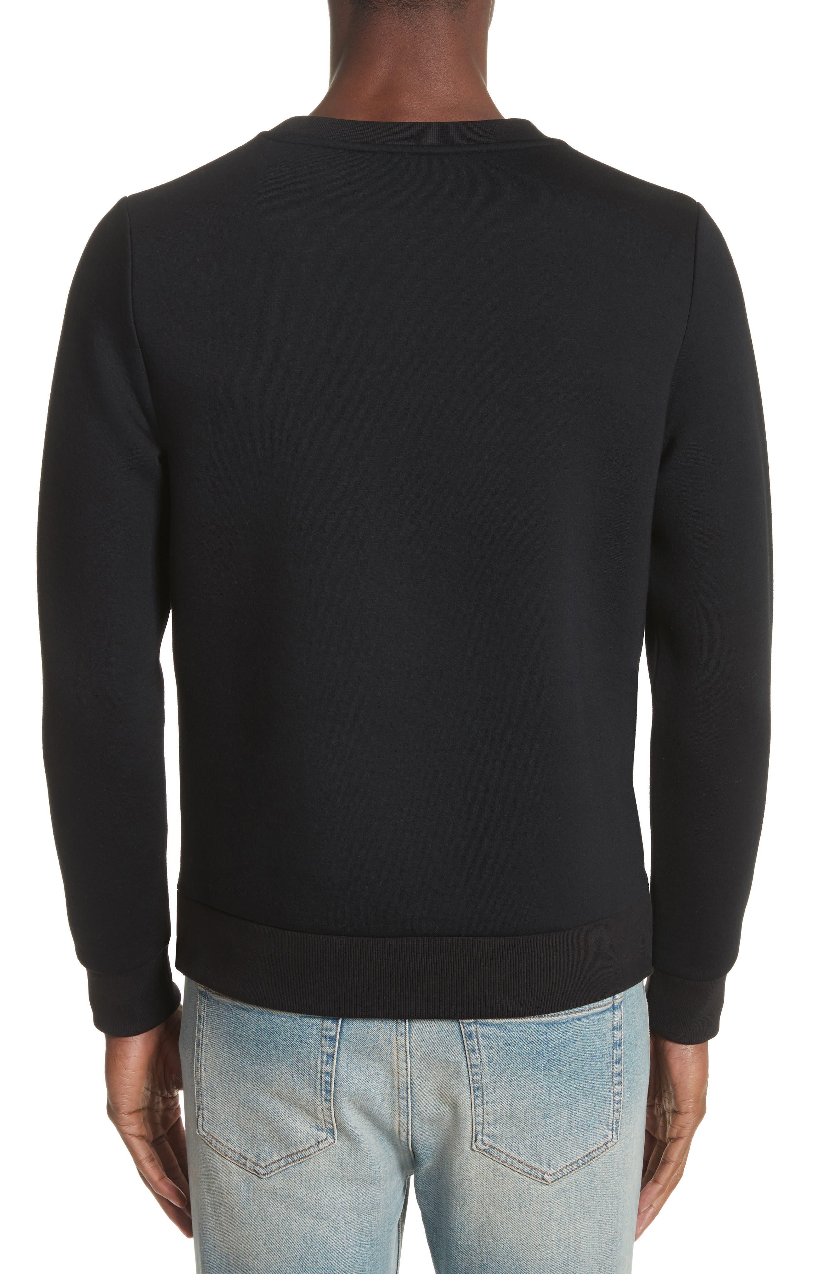Fleece Sweatshirt,                             Alternate thumbnail 2, color,                             001