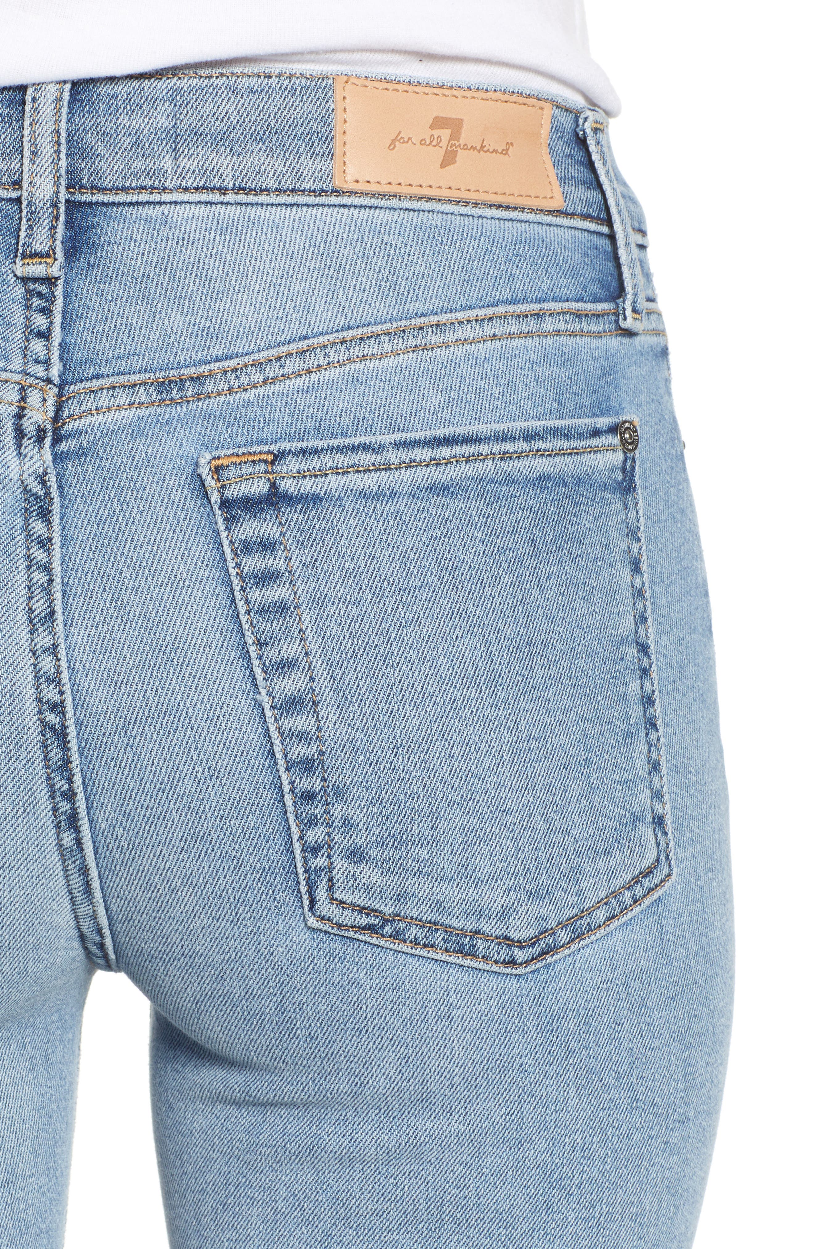 Roxanne Raw Hem Ankle Slim Jeans,                             Alternate thumbnail 4, color,                             403