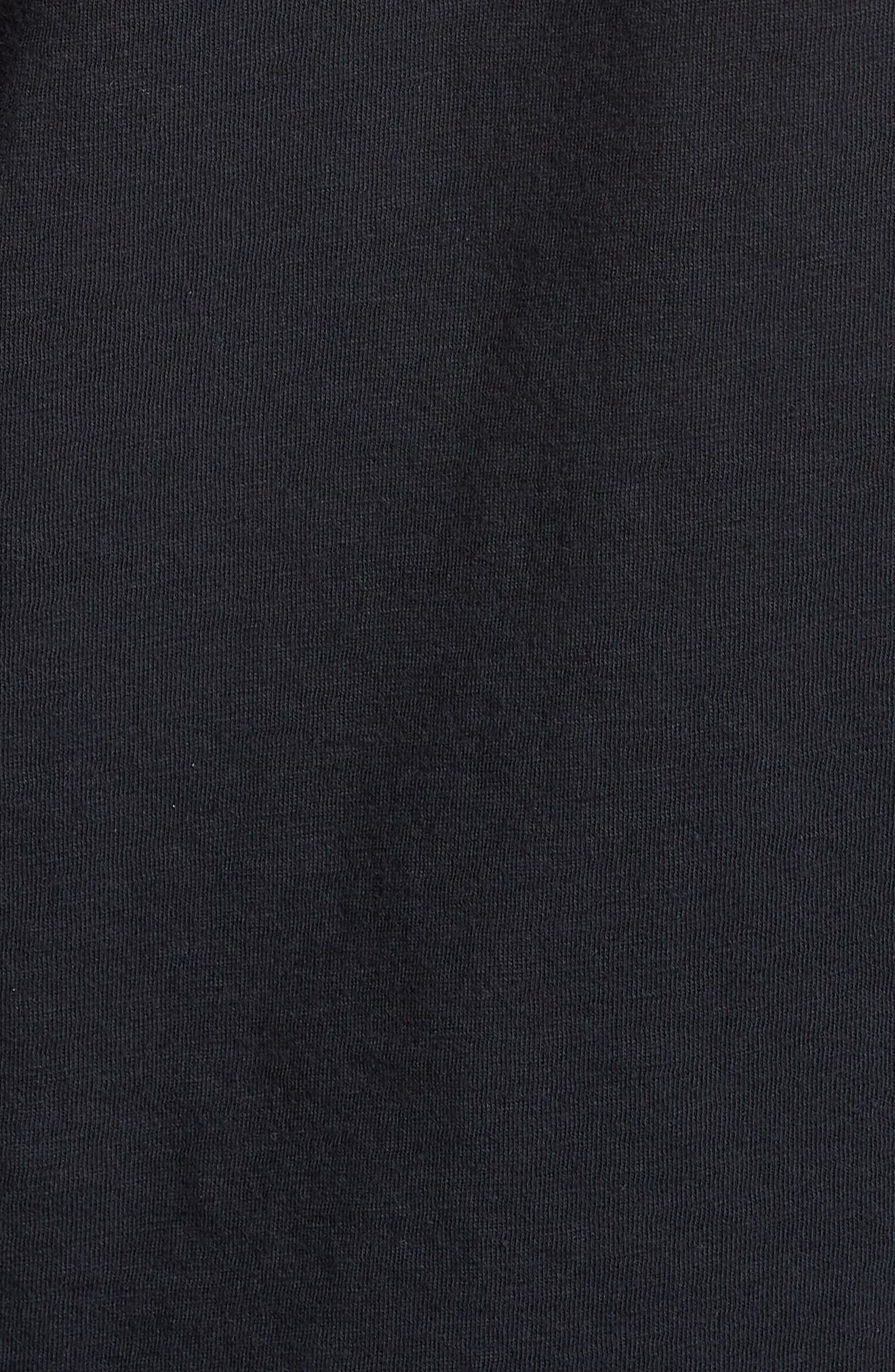 The Rolling Stones Trim Fit T-Shirt,                             Alternate thumbnail 5, color,                             001